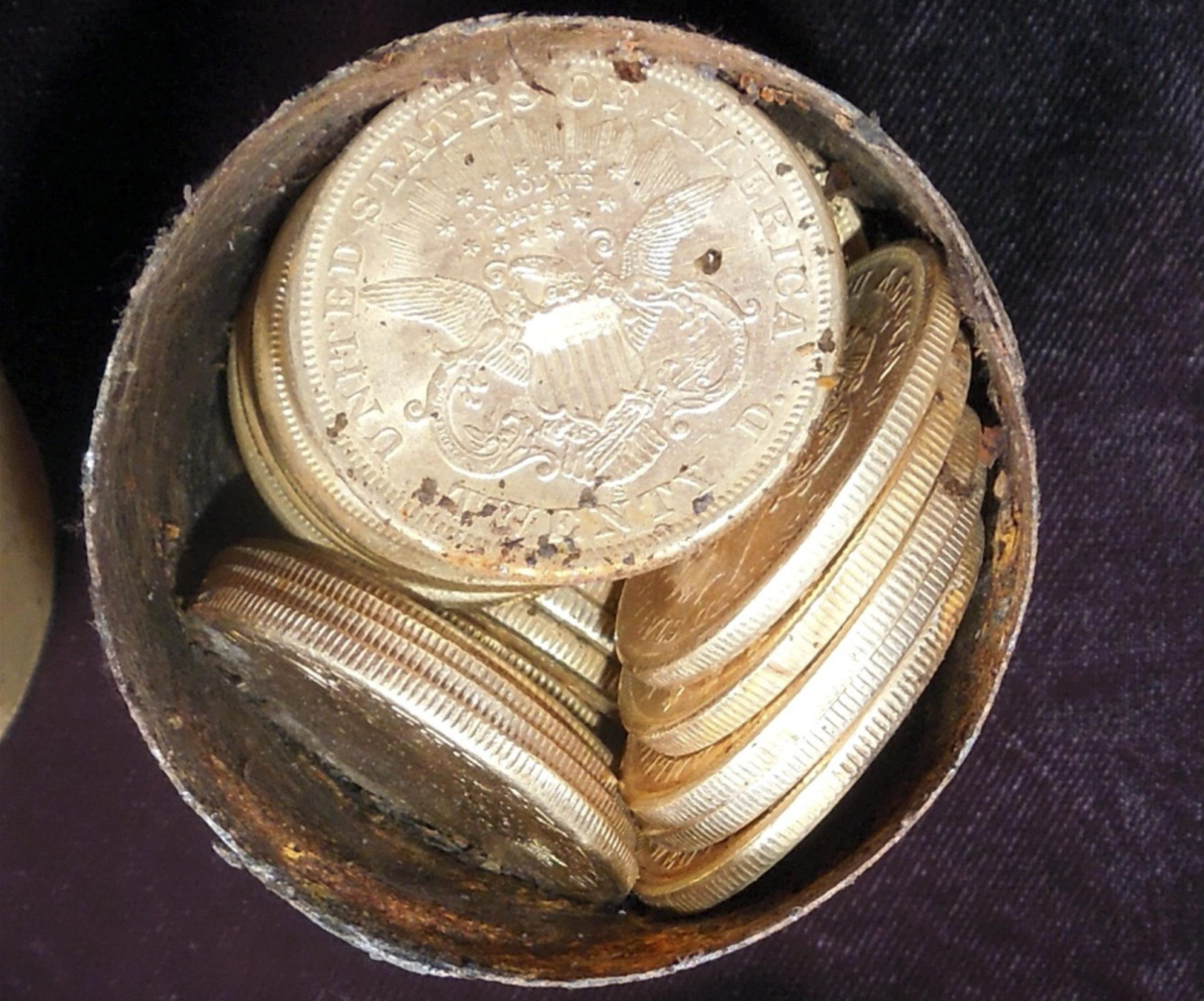 California Gold Coins Found In Backyard california couple finds $10m in gold coins buried in yard