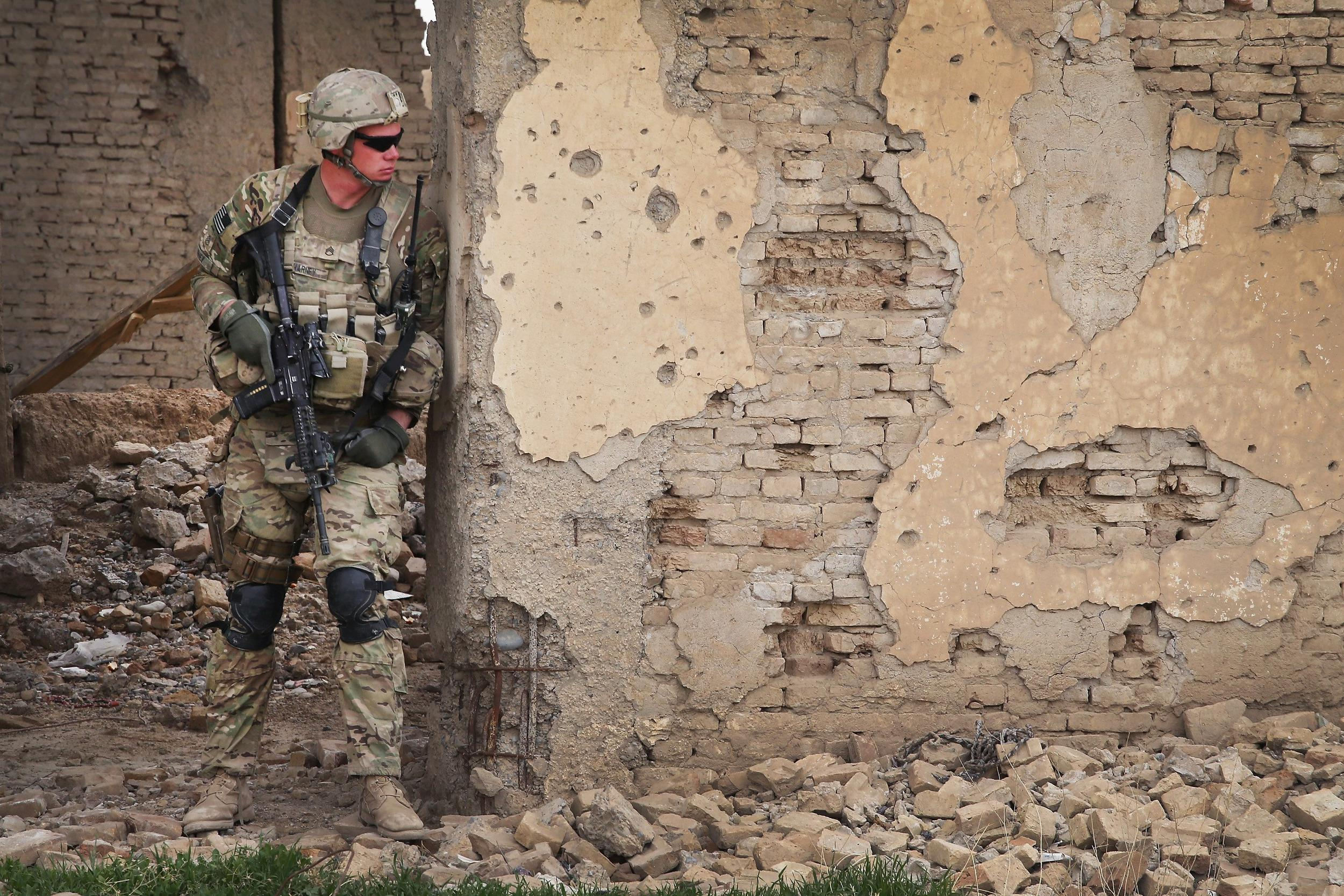 Image: U.S. Soldiers Provide Security Around Kandahar Airfield