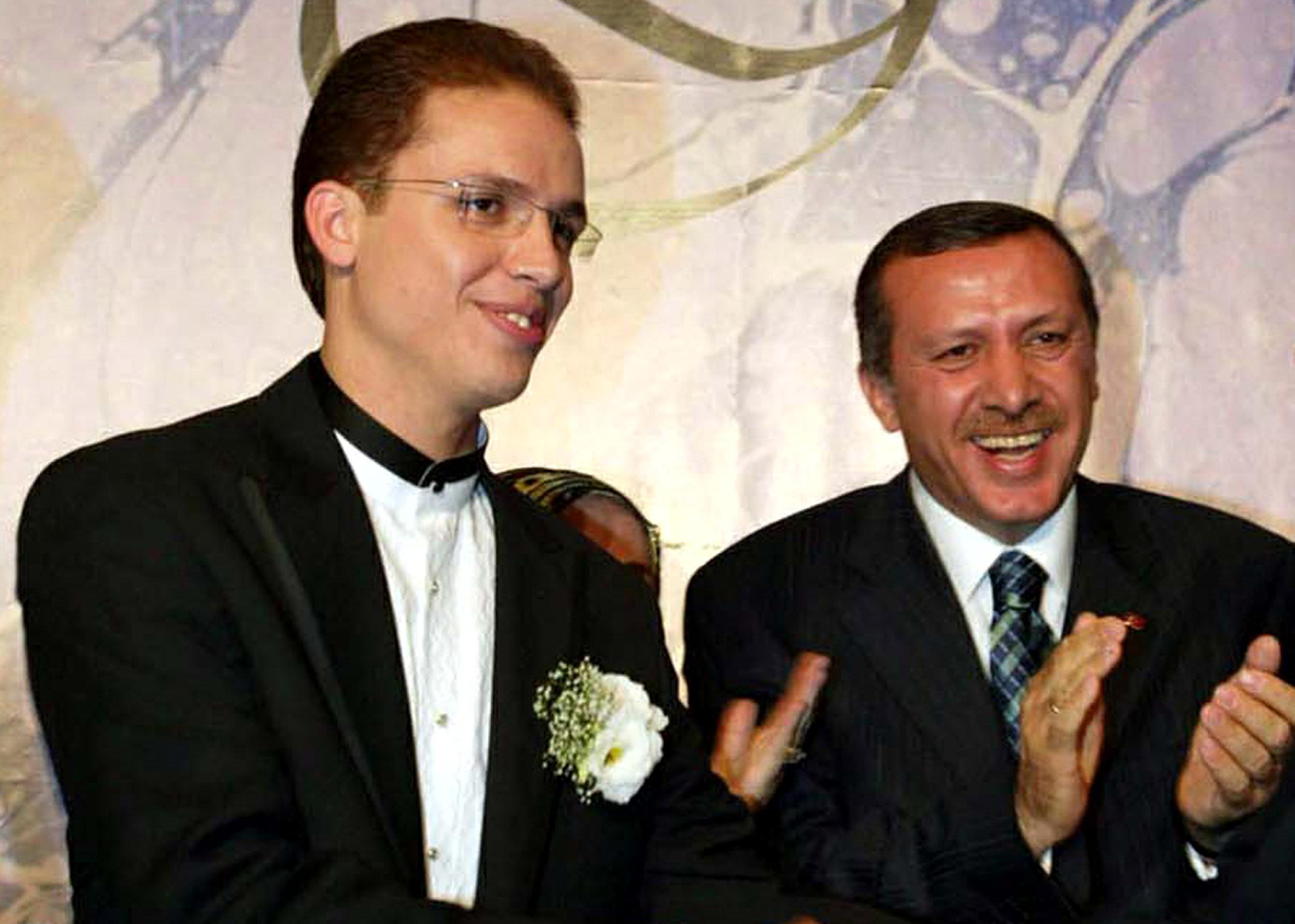 Image: Turkish Prime Minister Tayyip Erdogan, right, with his son Bilal in 2003