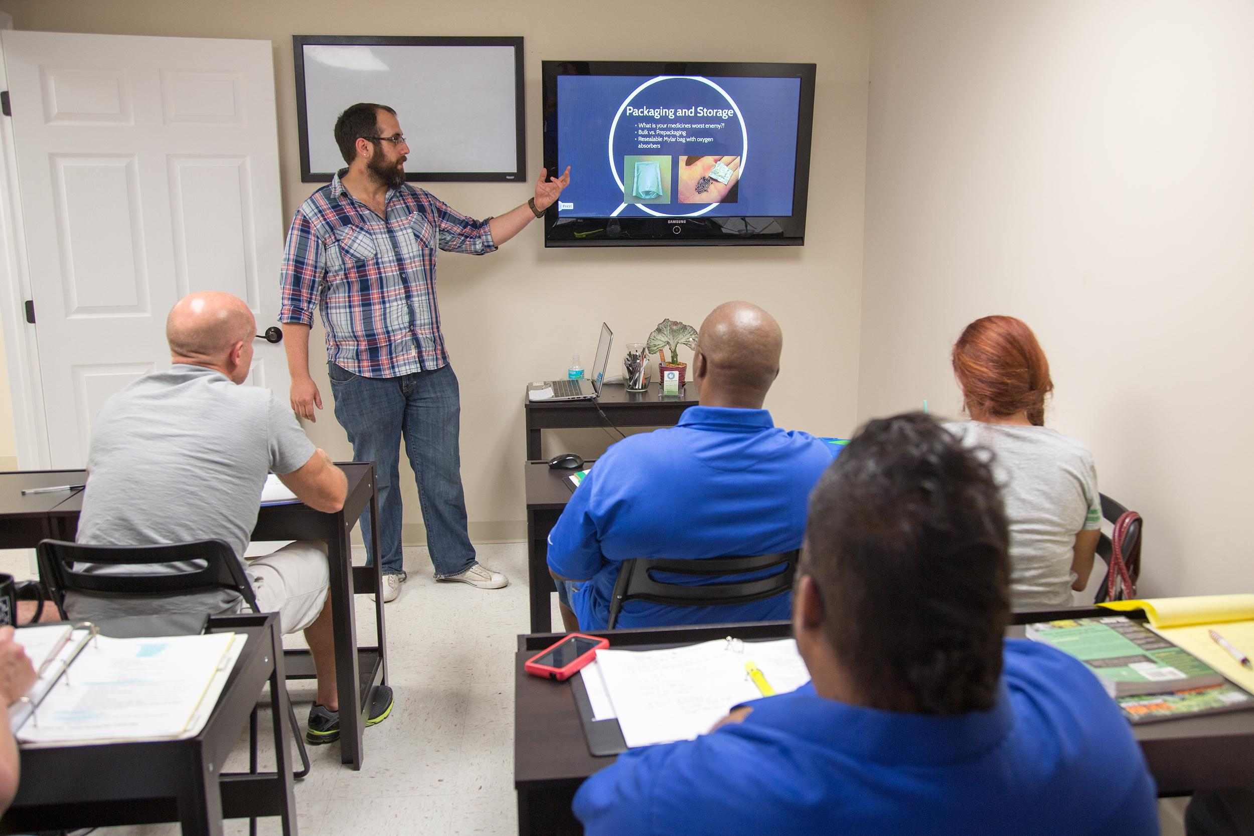 Image: Class at Medical Marijuana Tampa