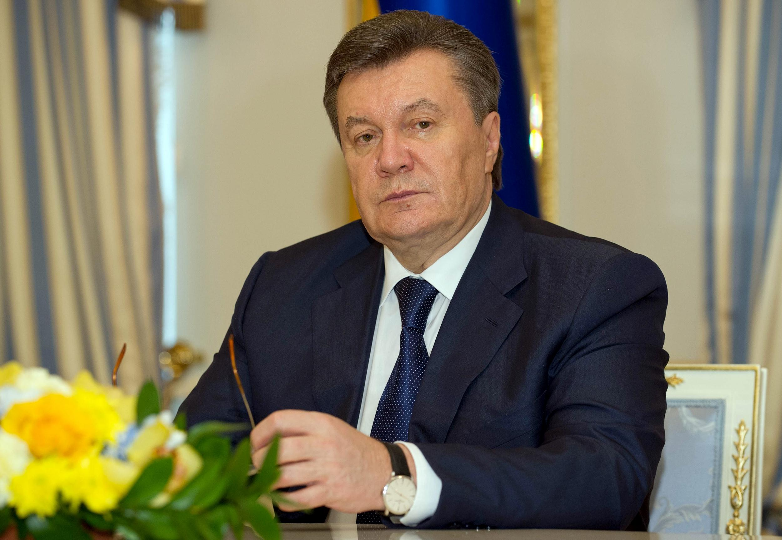 Image: Viktor Yanukovych asks for Russia's protection