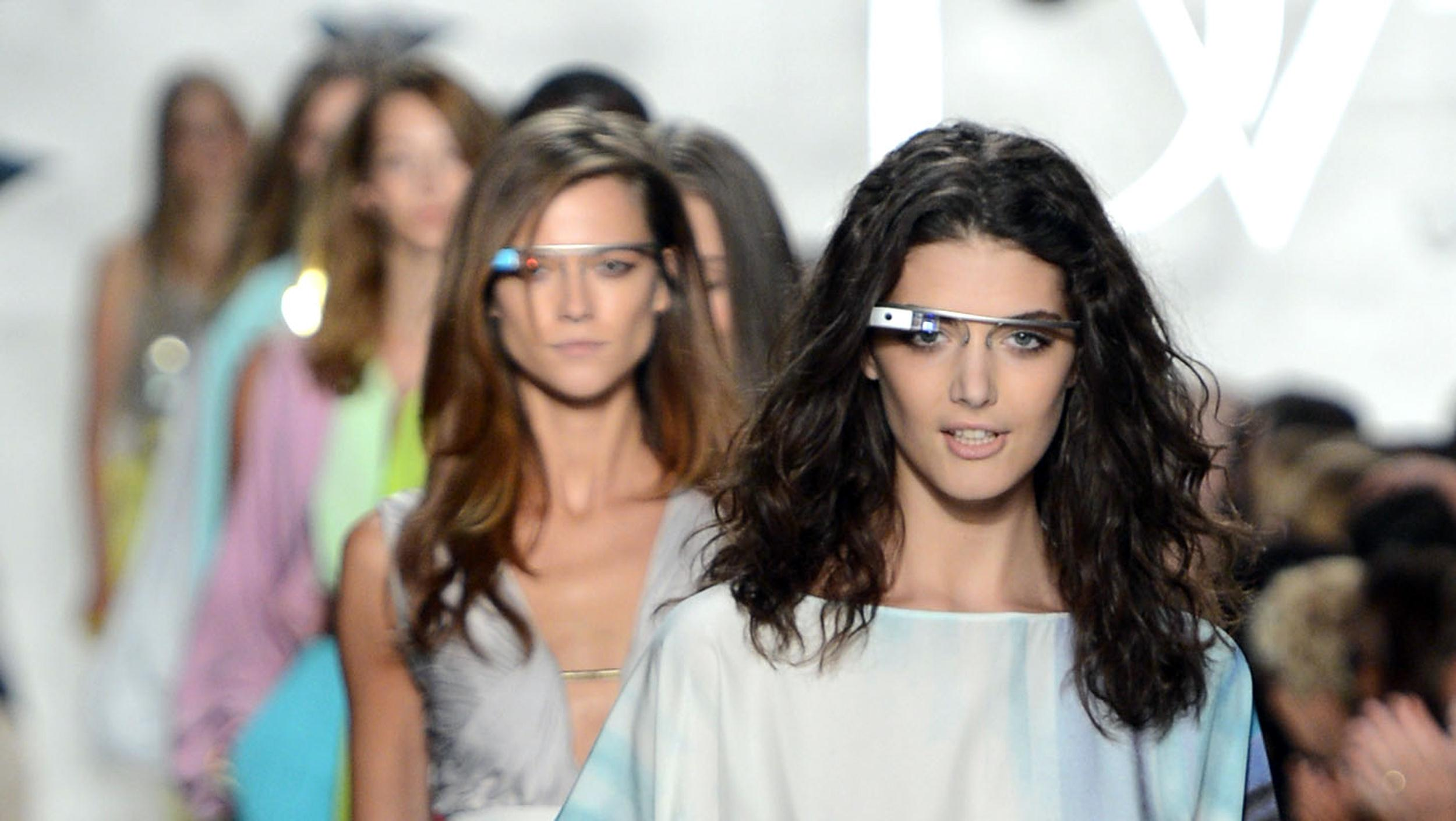 Image: Models walk the runway at the Diane Von Furstenberg Spring 2013 fashion show