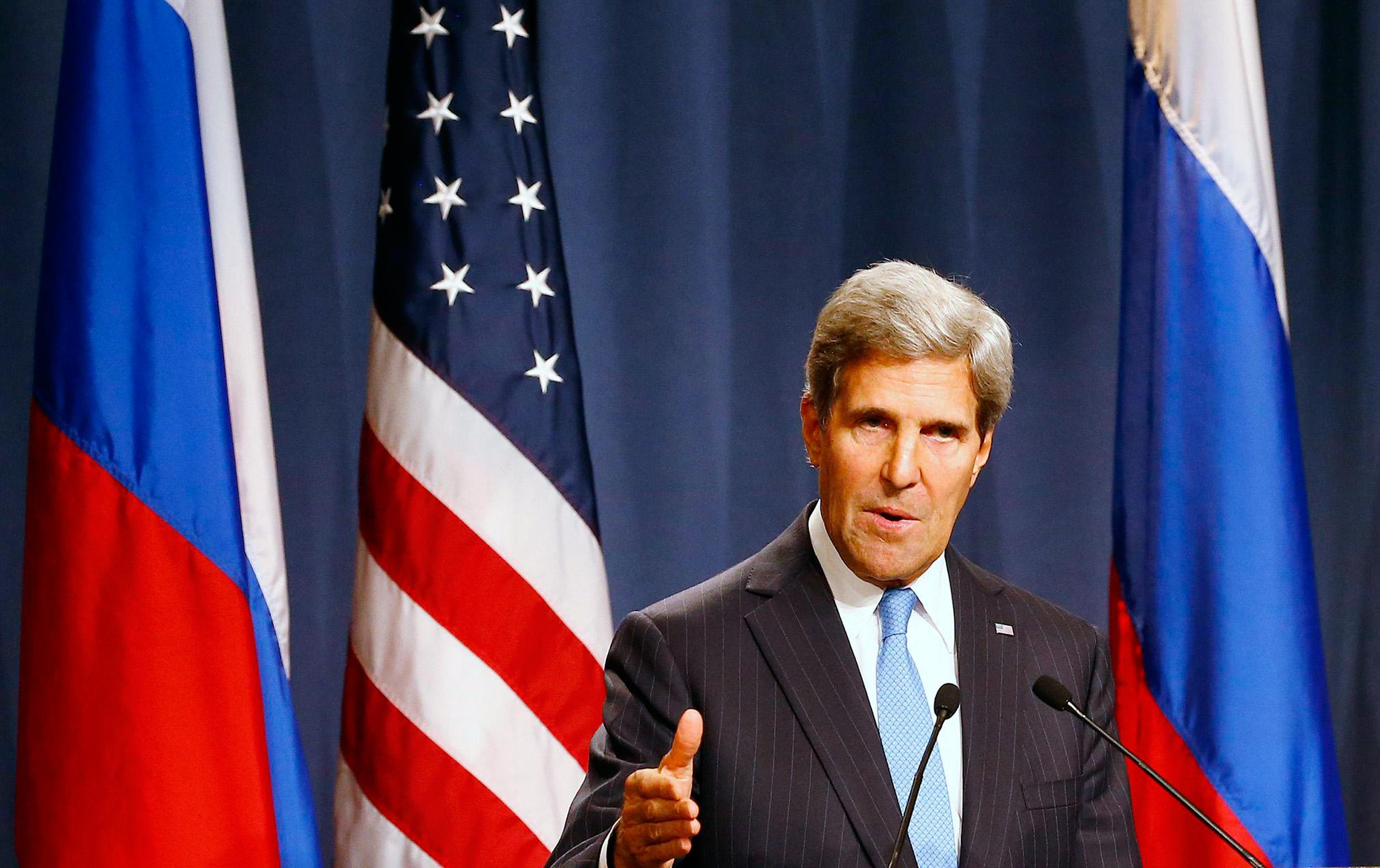 Image: US Sec. of State John Kerry and Russian Foreign Minister Sergey Lavrov in Geneva