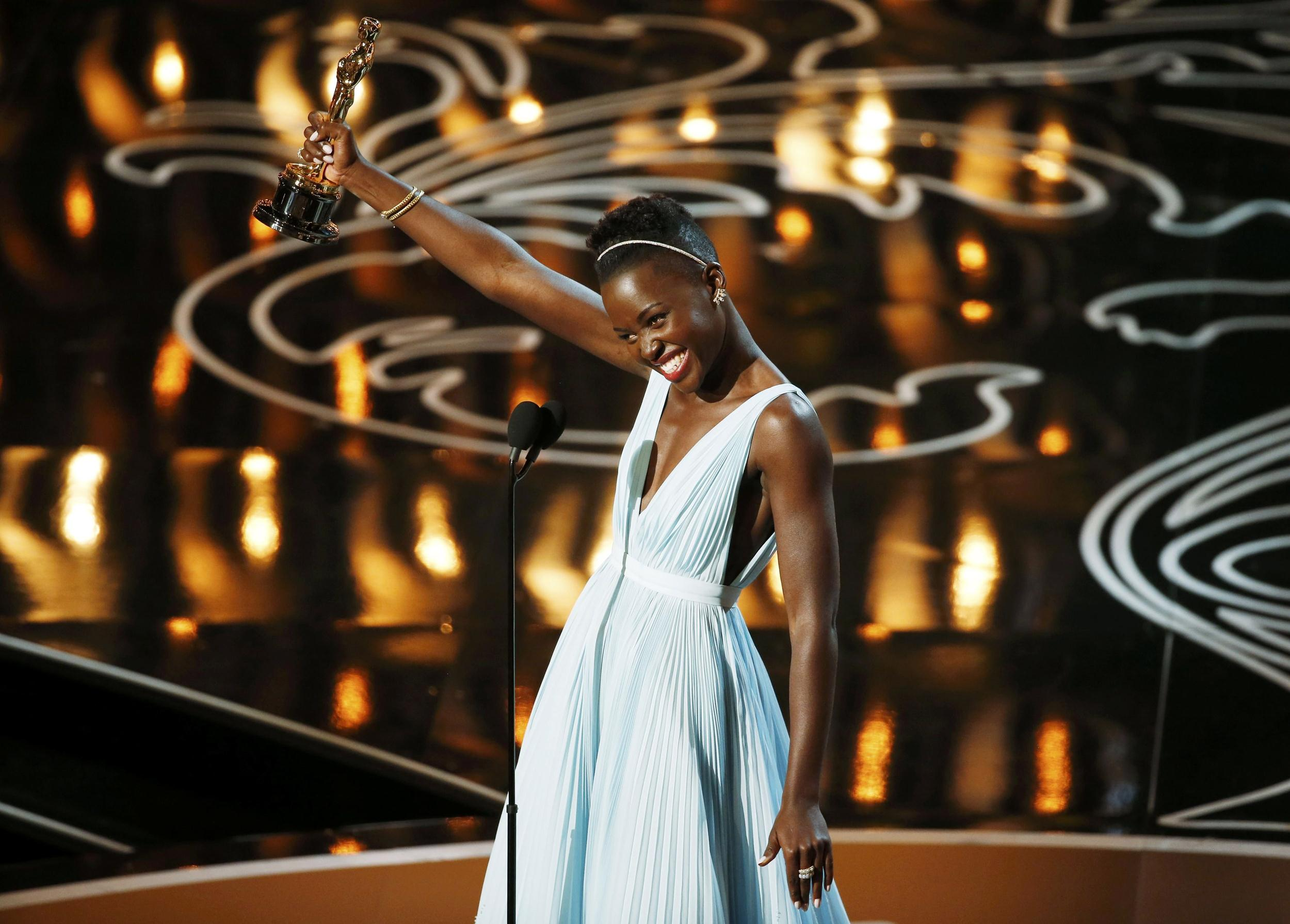 Image:  Nyong'o, best supporting actress winner for her role in