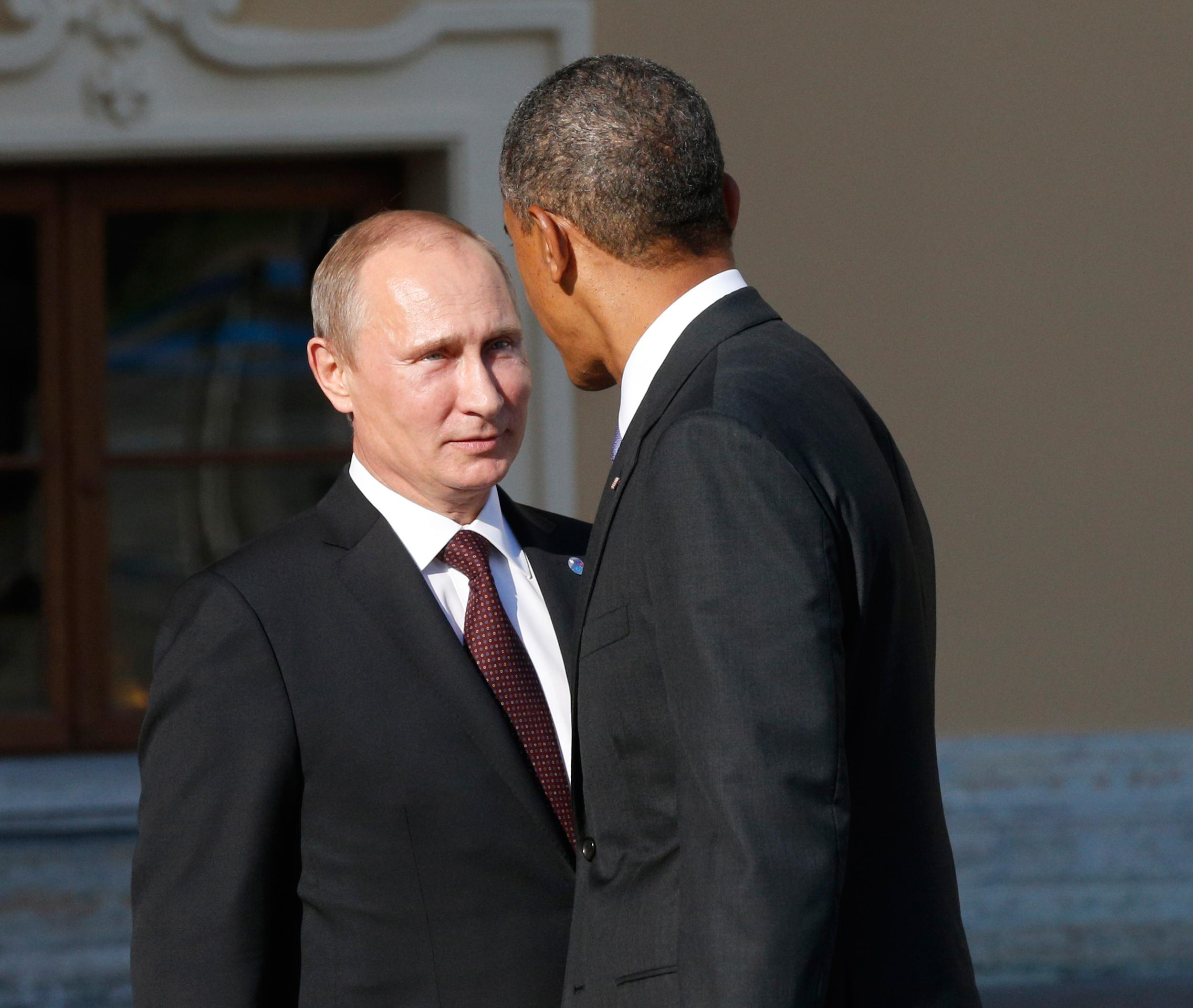 Image: Vladimir Putin and Barack Obama at a G-20 summit in 2013.