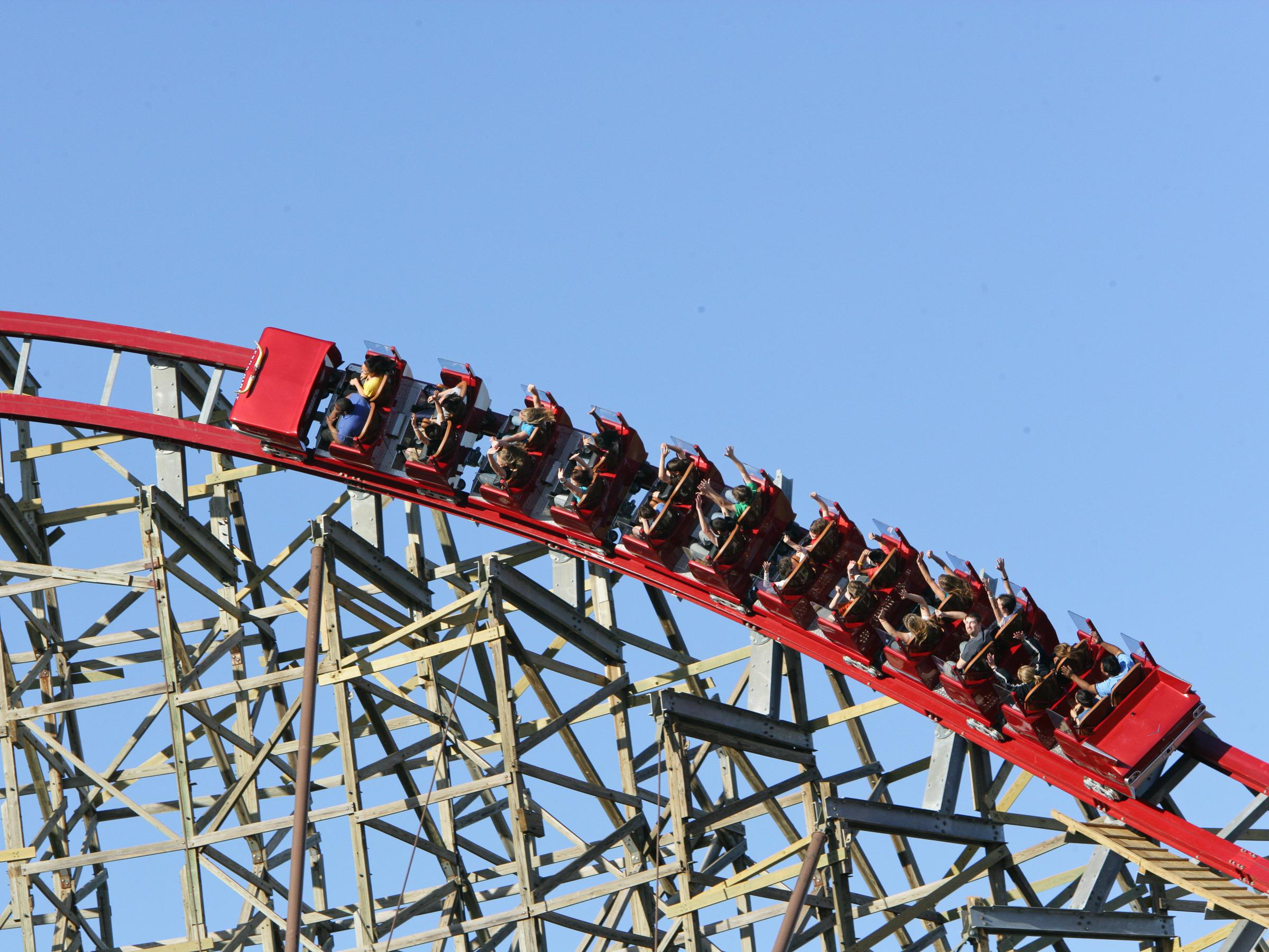 Image: Texas Giant roller coaster