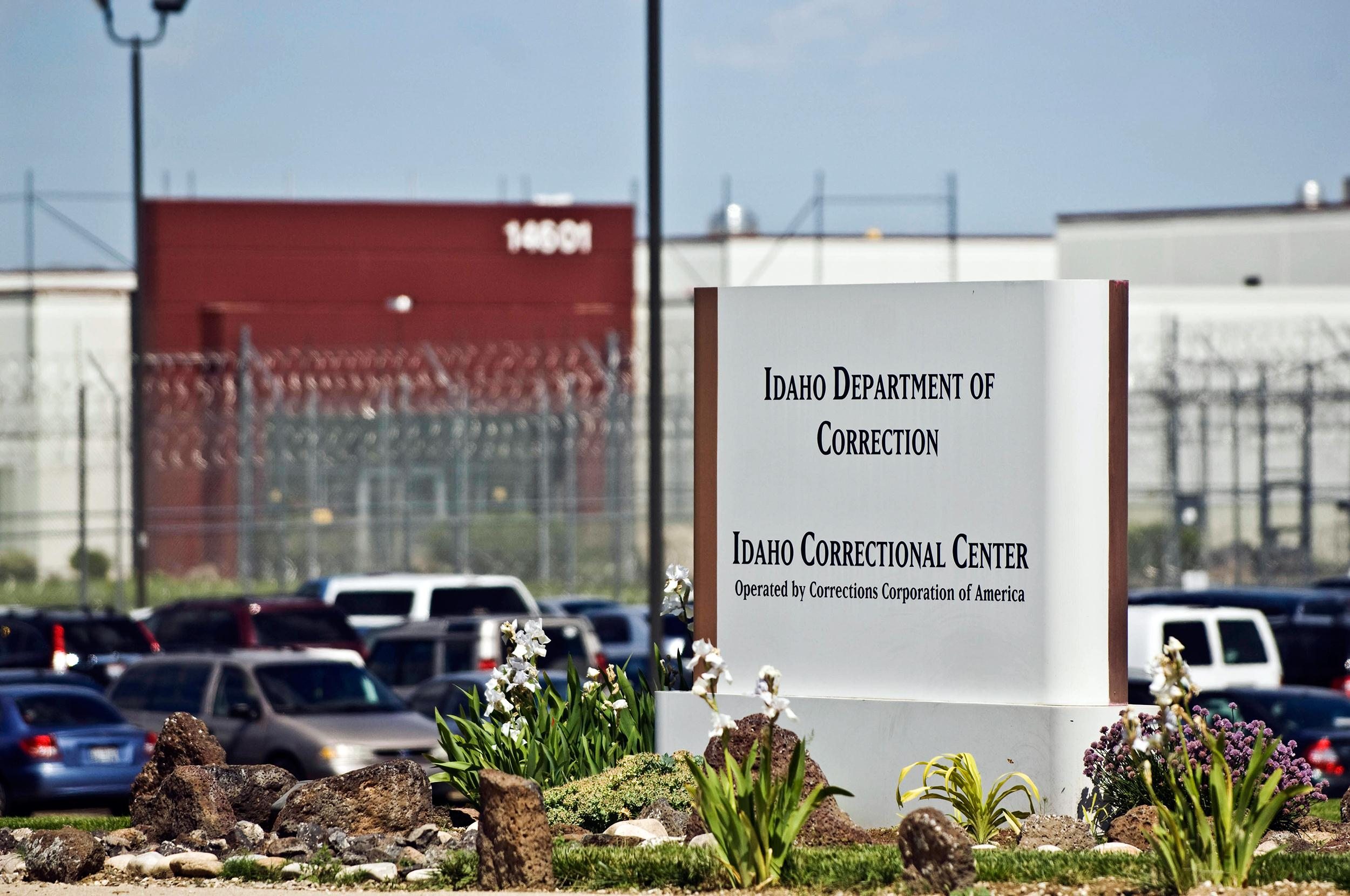 Image: The Idaho Correctional Center south of Boise, Idaho