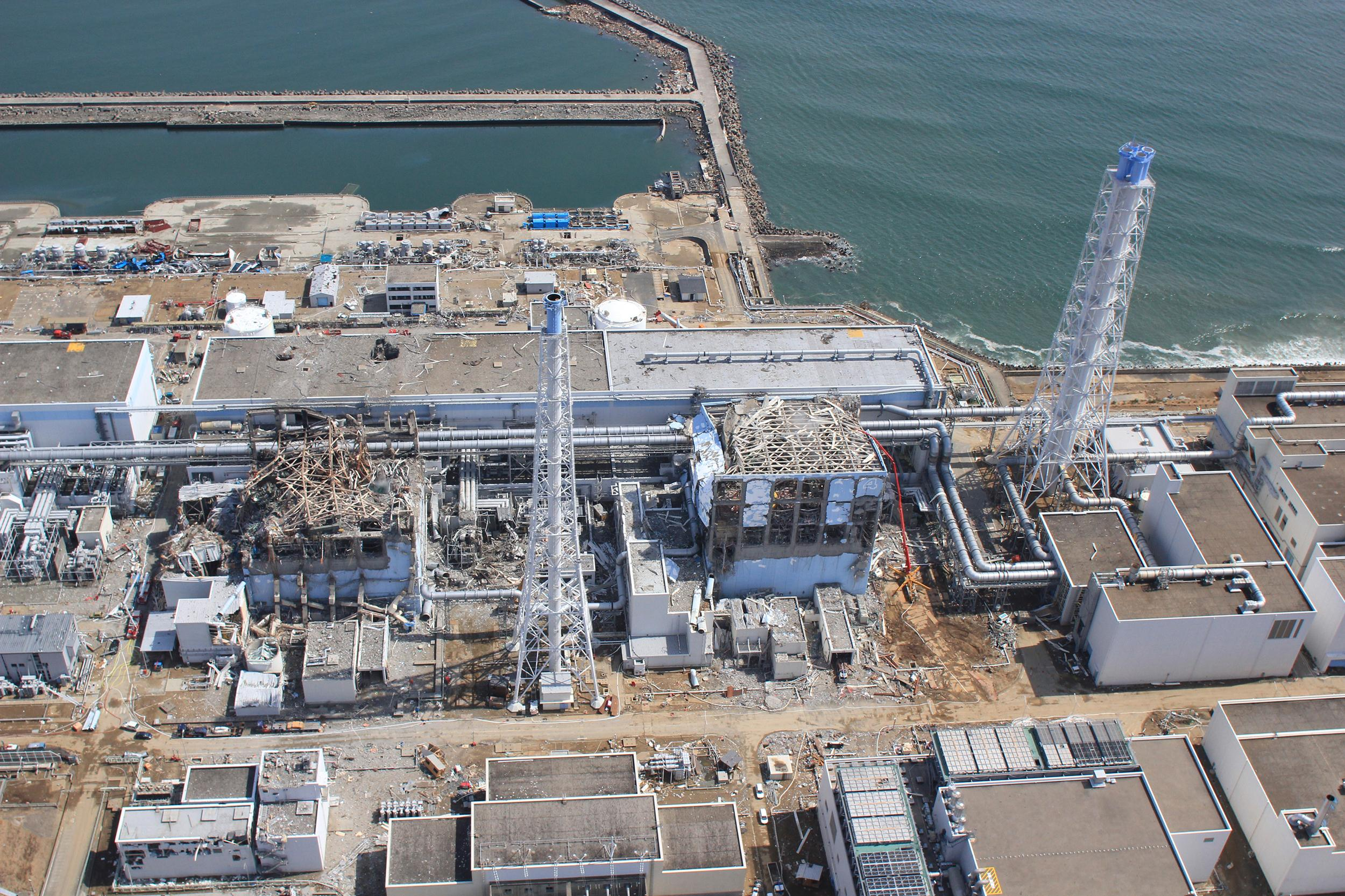 Image: An aerial view of the Fukushima Daiichi Nuclear Power Station is seen in Fukushima Prefecture