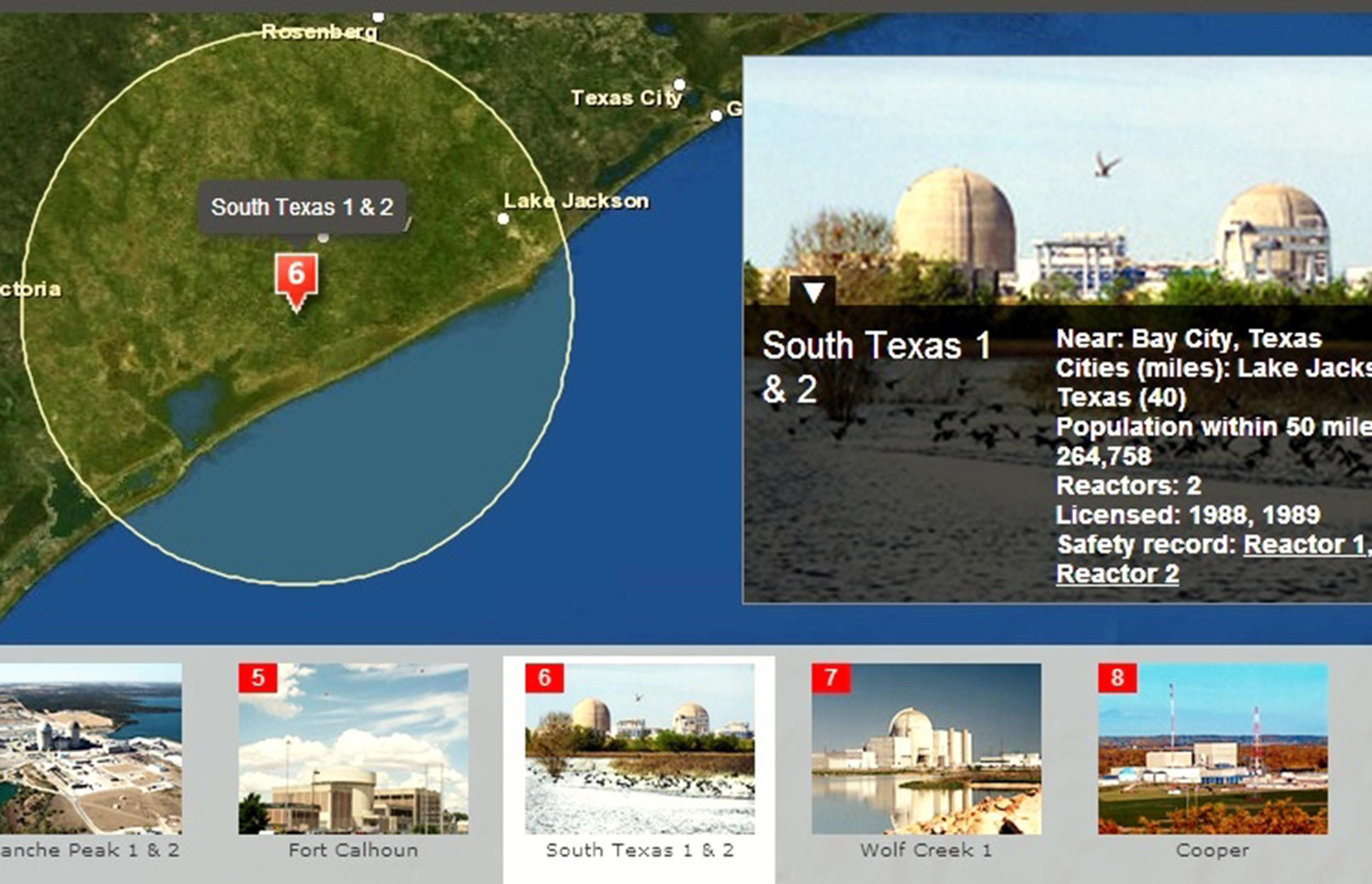See details of the 62 U.S. nuclear power plants, along with their age and safety records.