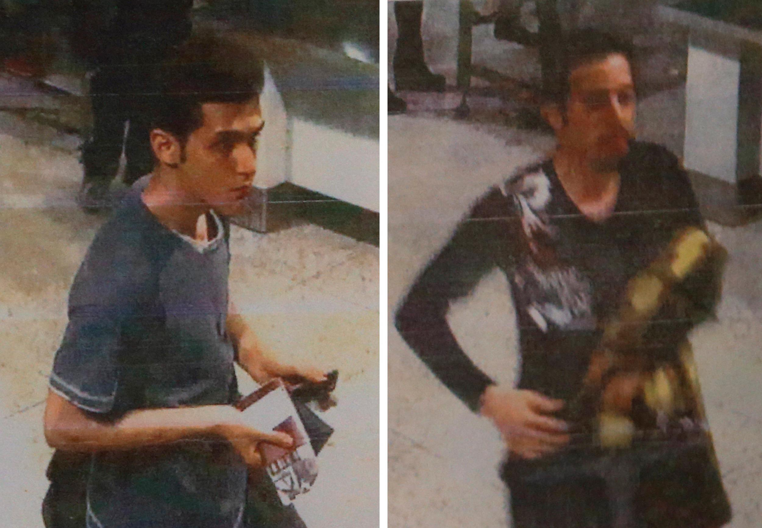 Image: A combination photo shows two passengers who used stolen passports to board missing Flight MH370