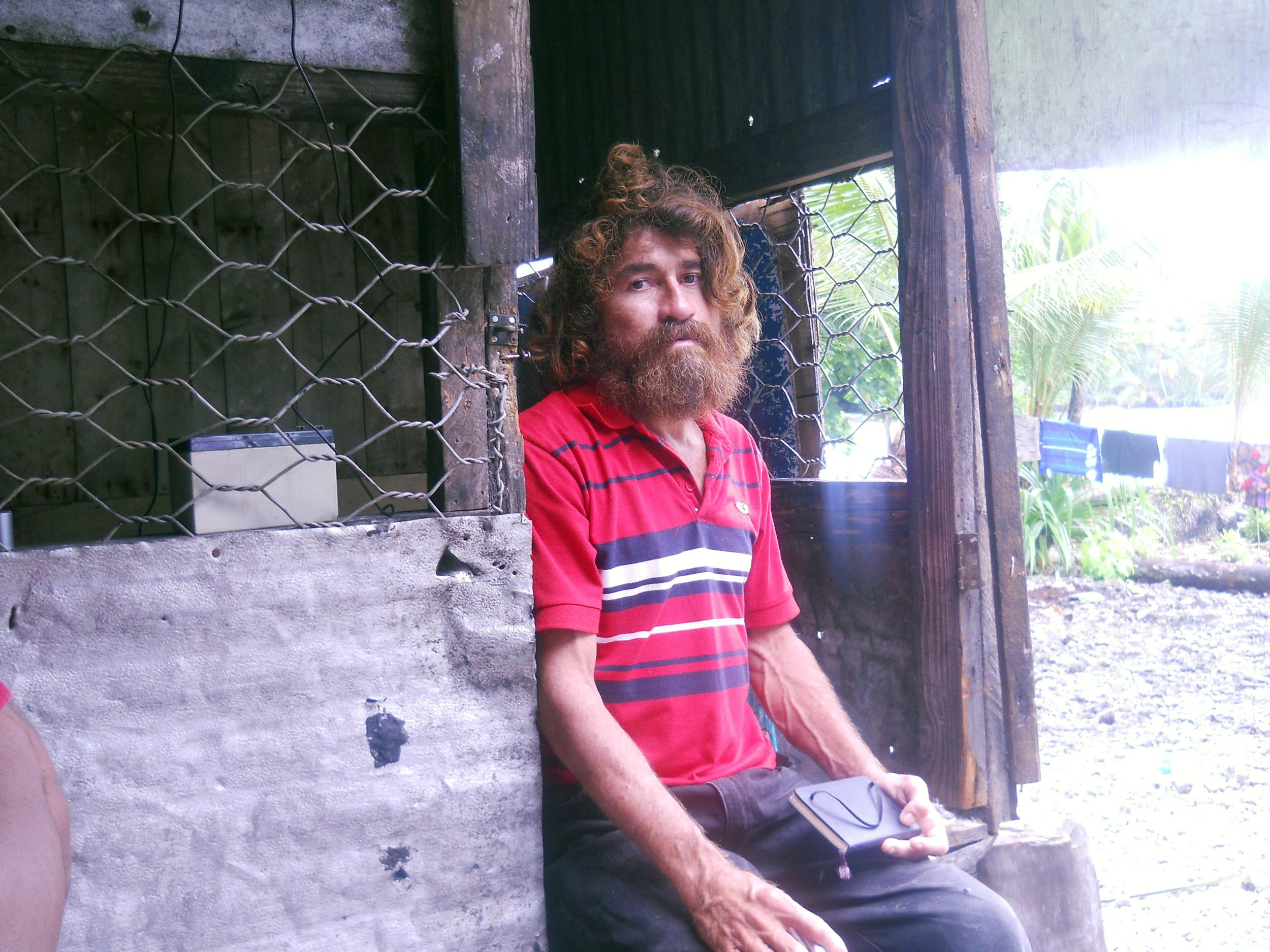 Image: Jose Salvador Alvarenga wears fresh clothes in the first photo taken of him, the day after he went ashore in the Marshall Islands.