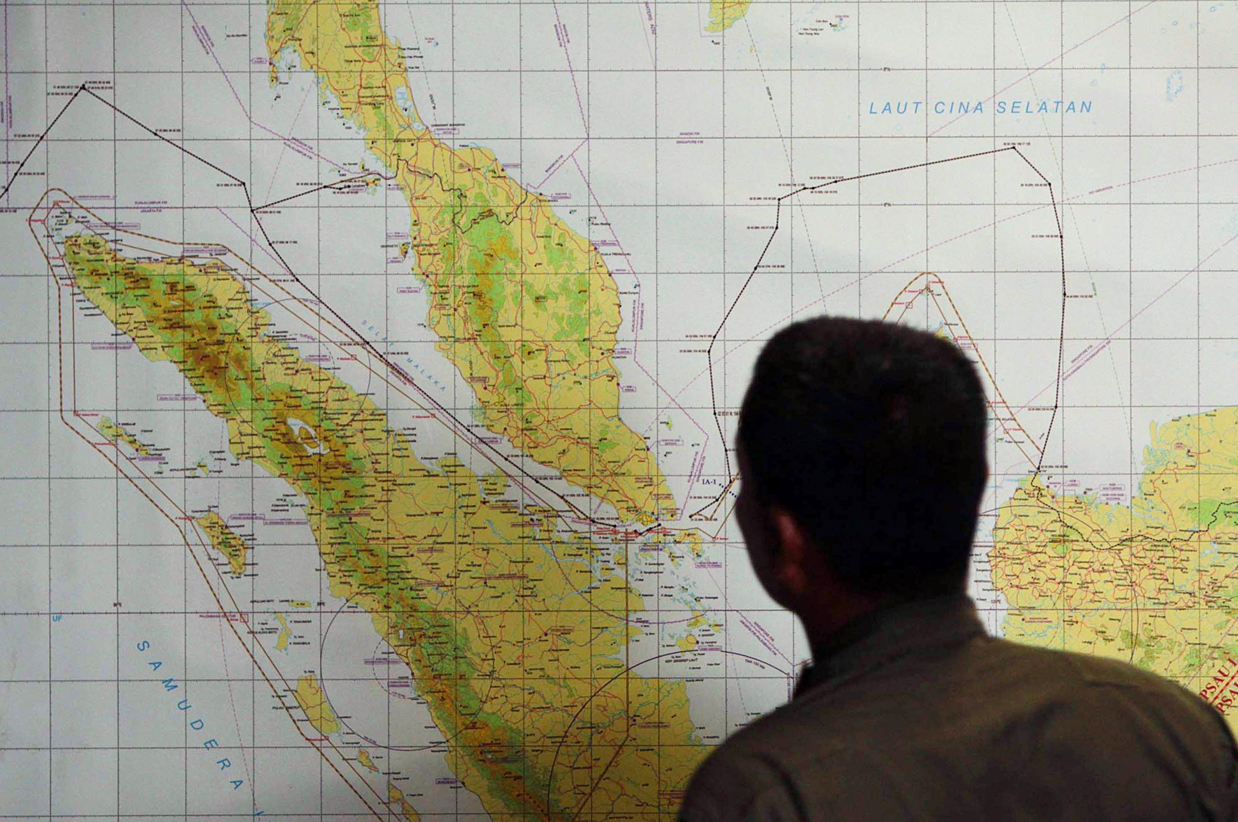 Image: Search operation for the missing Malaysian Airlines flight MH370
