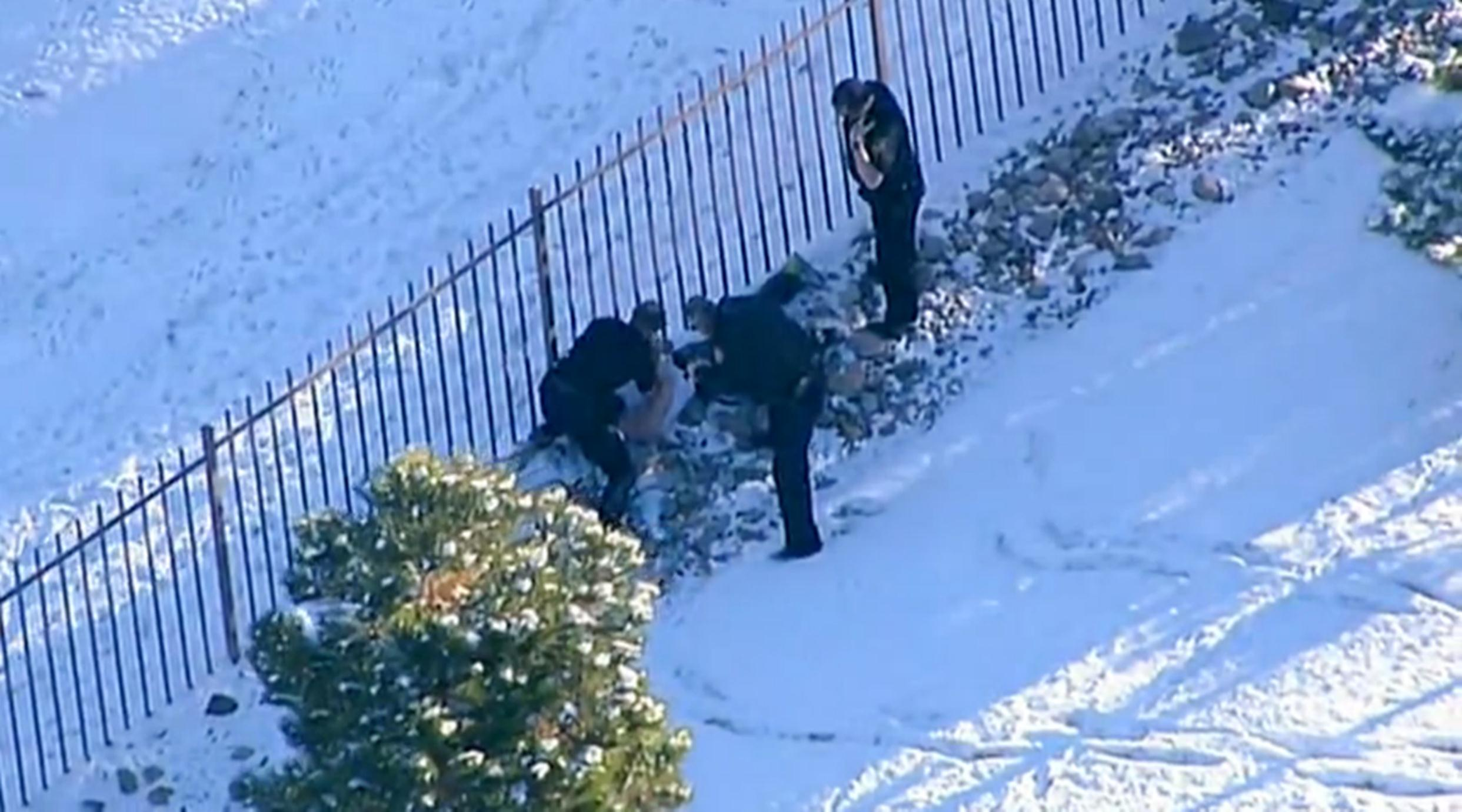 Image: A dramatic car chase tied to an Amber Alert ends with the suspect's capture in Colorado