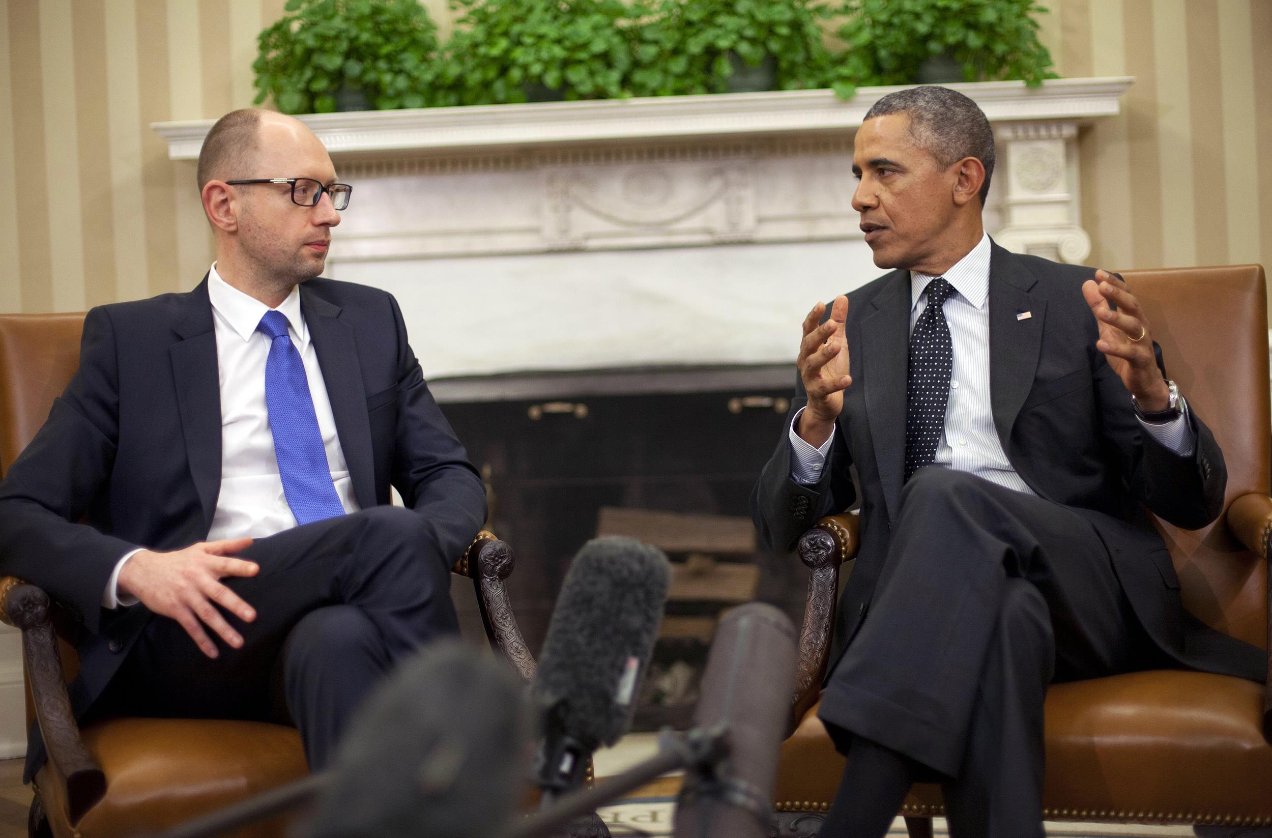 Image: Barack Obama, Arseniy Yatsenyuk