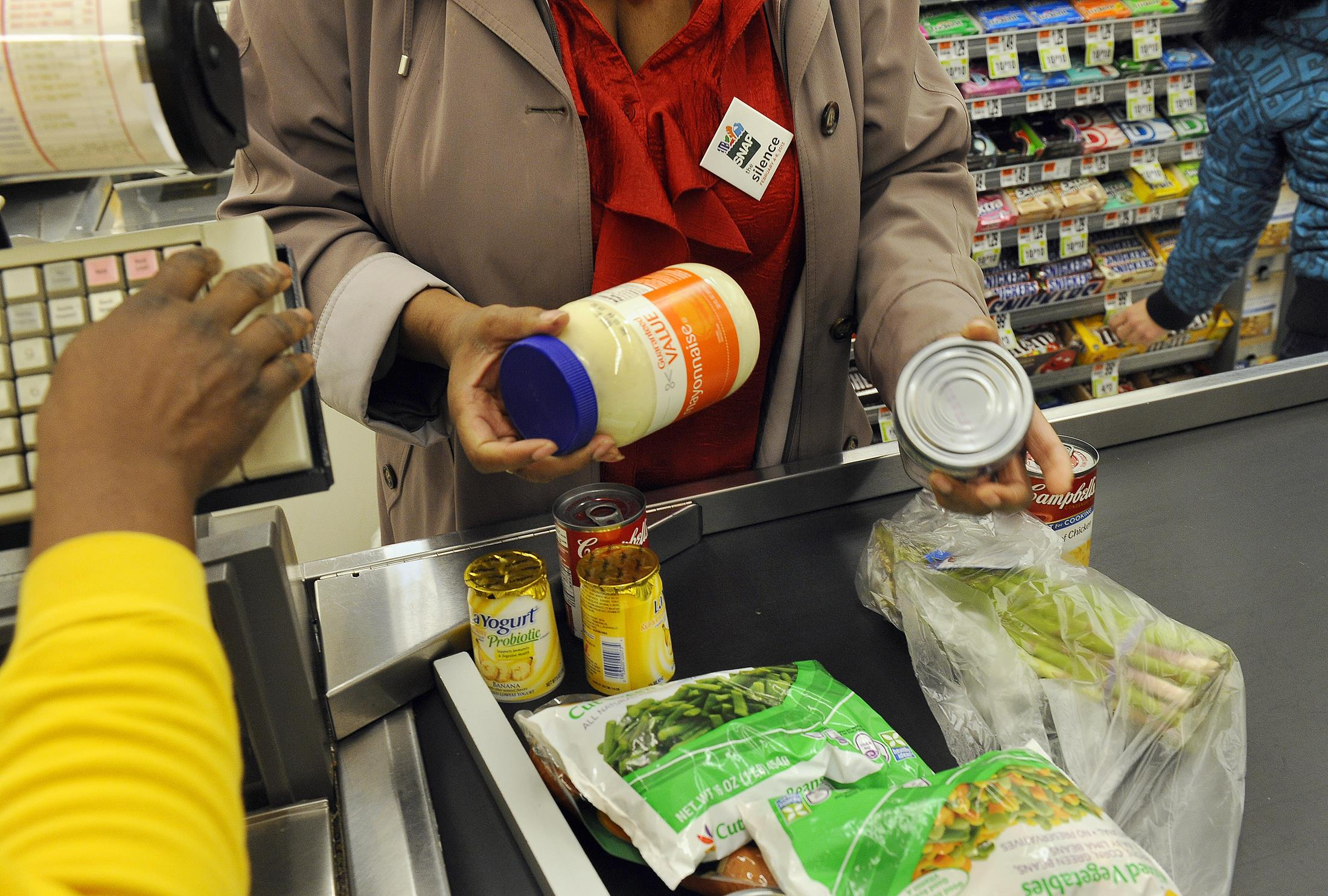 Image: Shopping trip to buy food within limits of SNAP budget