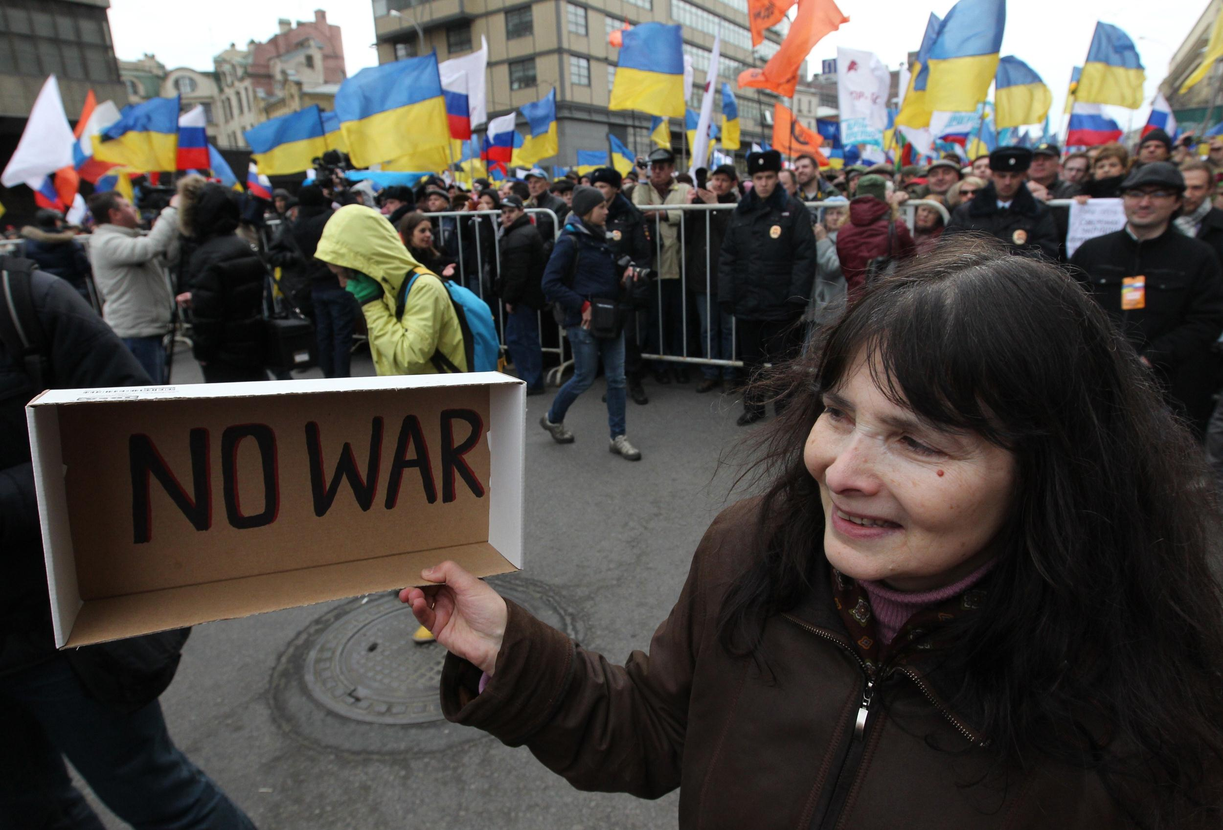 Image: Rallies Held In Moscow Ahead of Secession Vote
