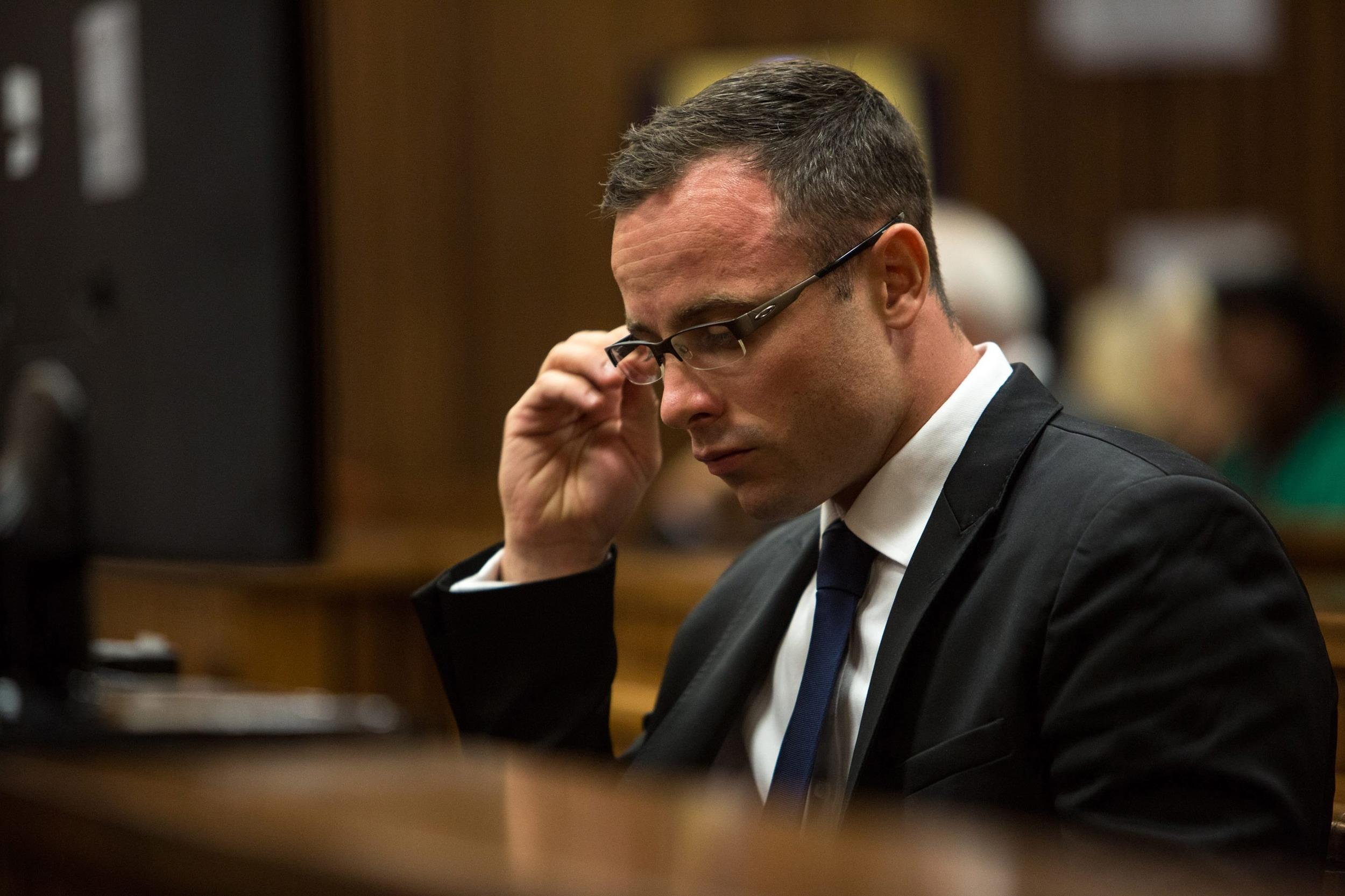 Image: Oscar Pistorius on Monday