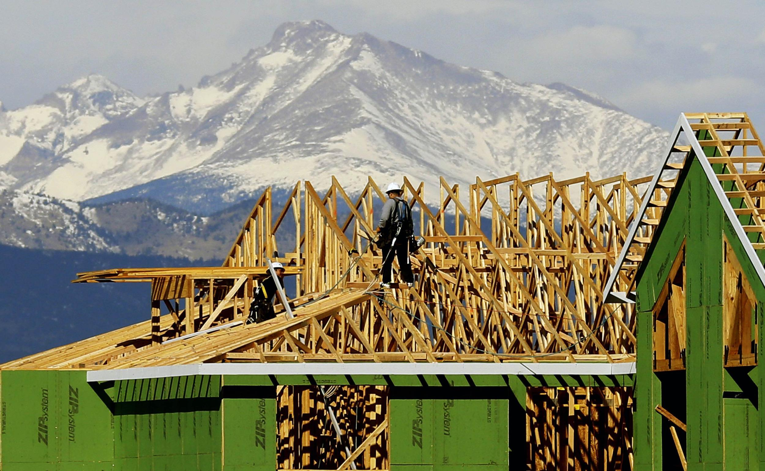 Housing starts fell for a third straight month, with the Northeast especially hit by severe cold weather