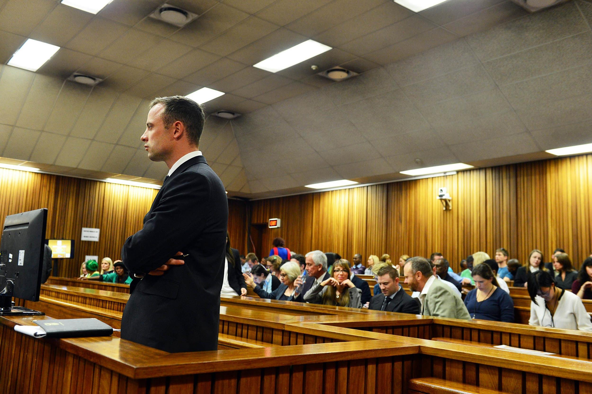 Image: Oscar Pistorius on Wednesday