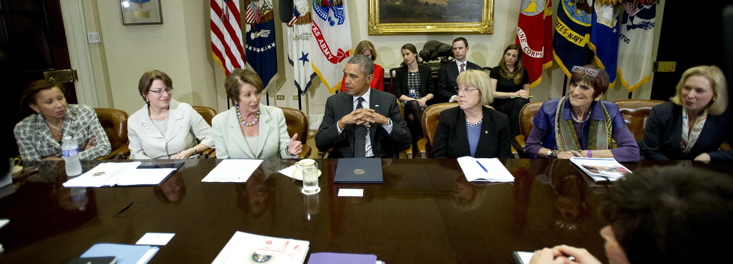 Image: Obama Meets Women Members of Congress