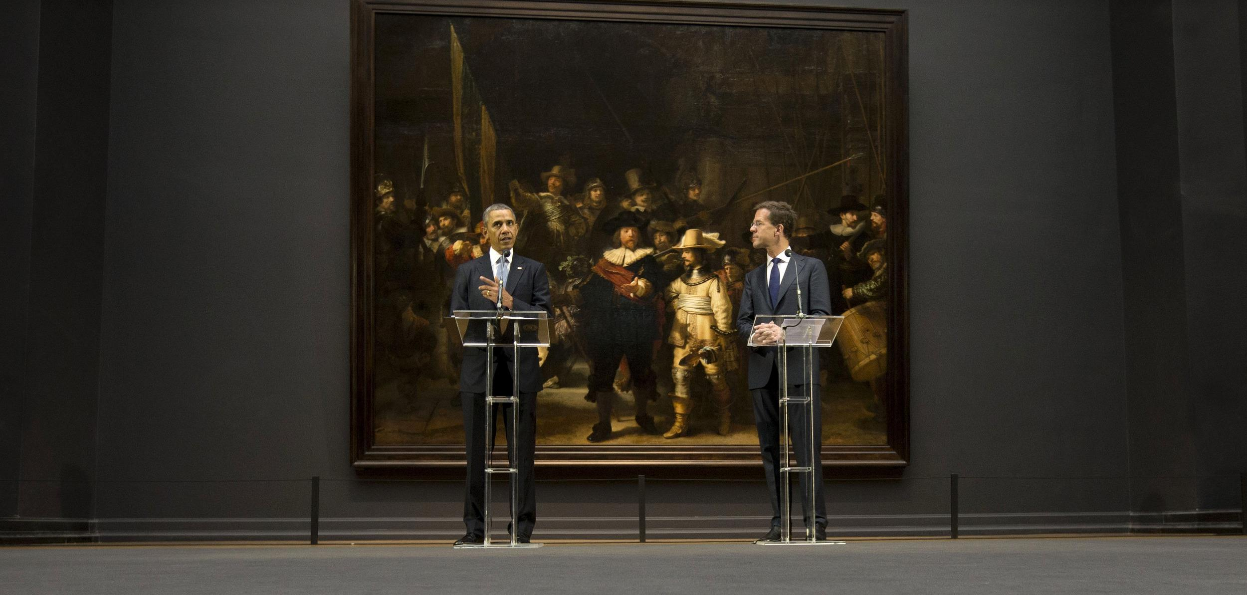 Image: Barack Obama, Mark Rutte