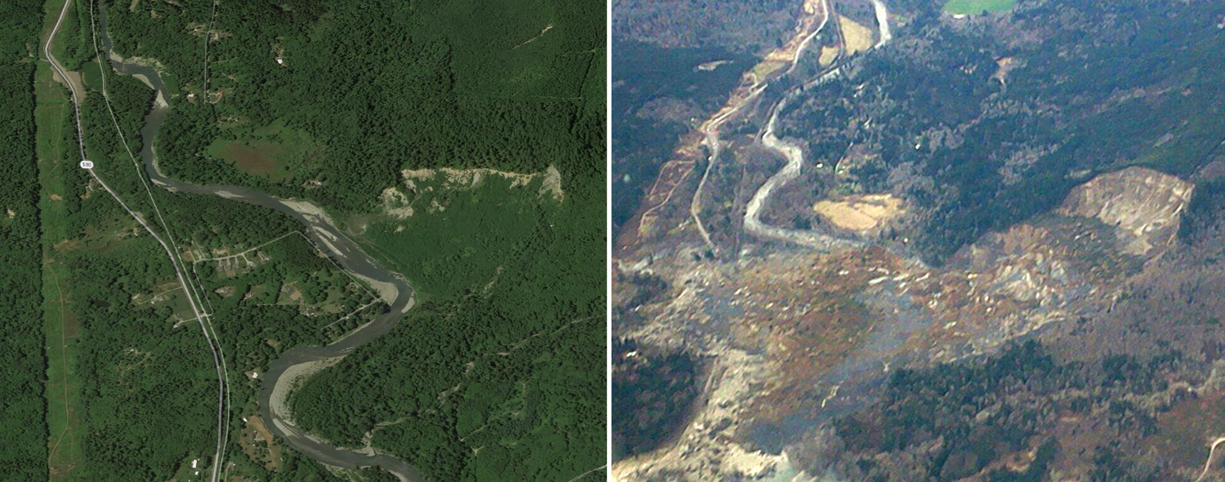Image: Before and After Oso mudslide