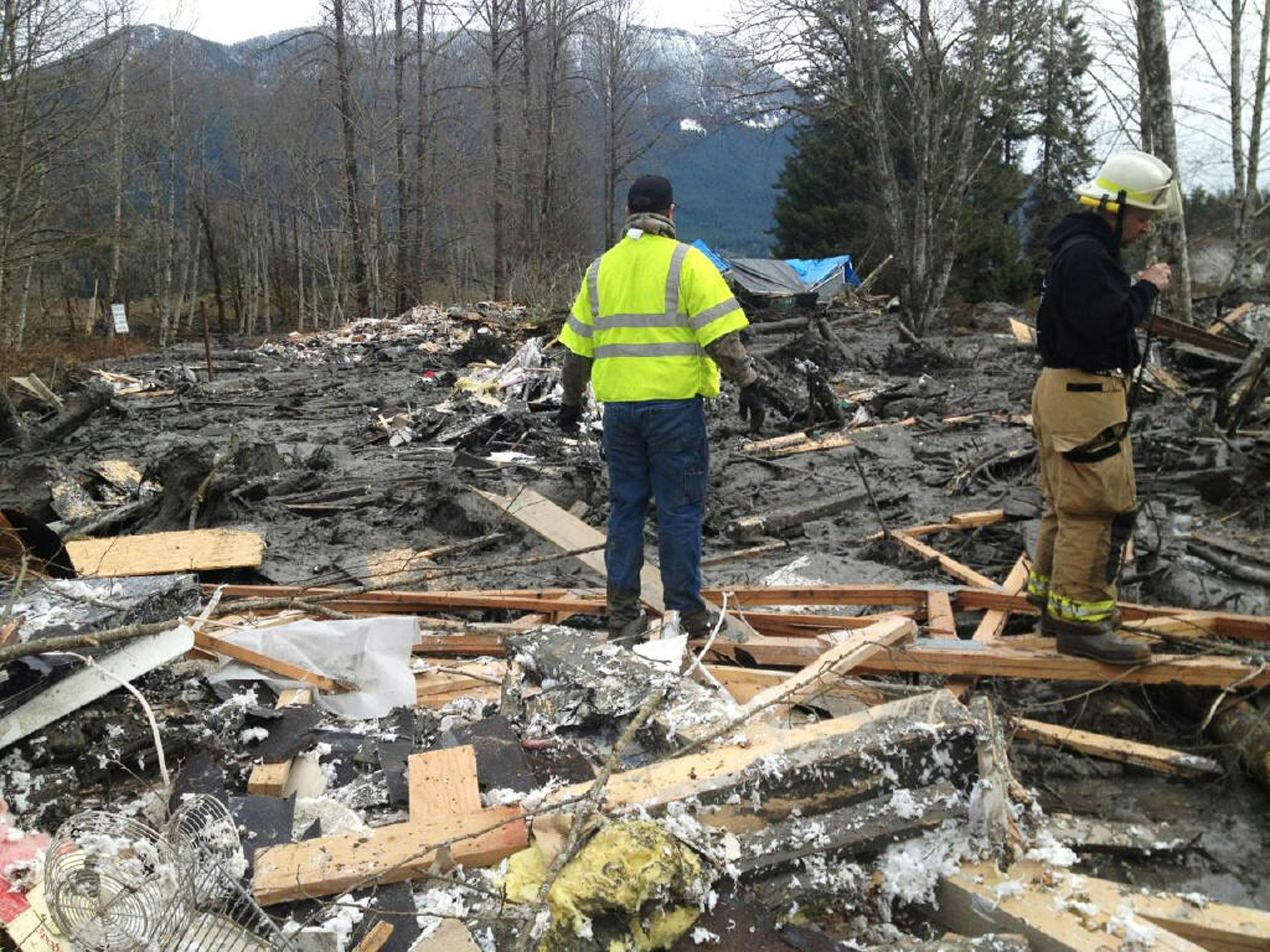 Image: Eighteen Still Missing In Washington State Mudslide