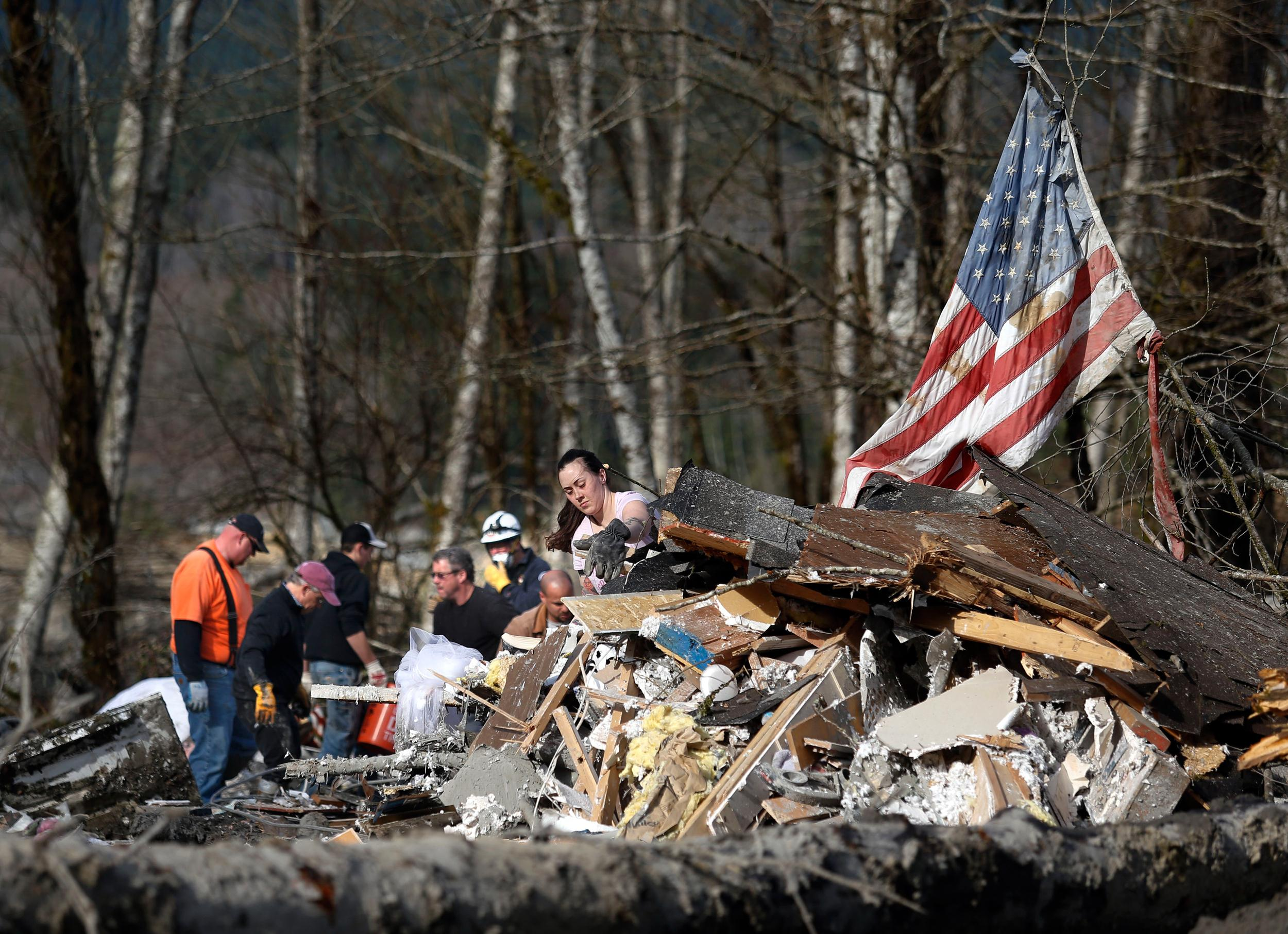 Image: Aftermath of mudslide in Oso, Wash.
