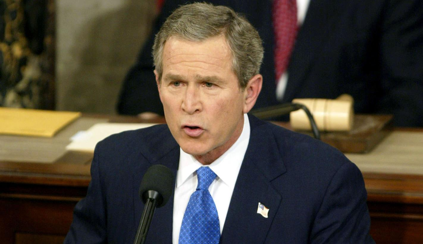 Image: PRESIDENT BUSH DELIVERS STATE OF THE UNION SPEECH.