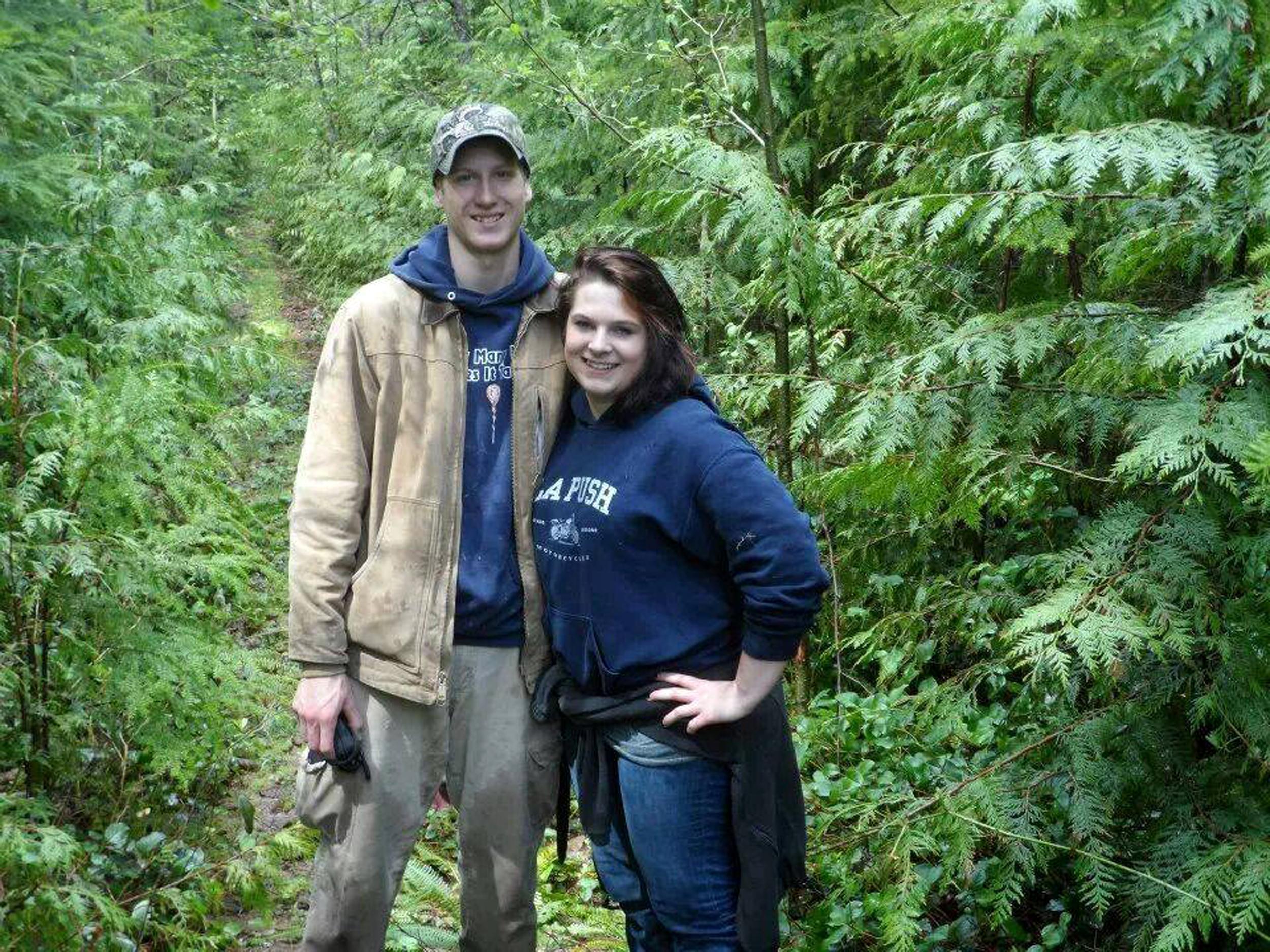 Image: Alan Bejvl and his fiancee Delaney Webb