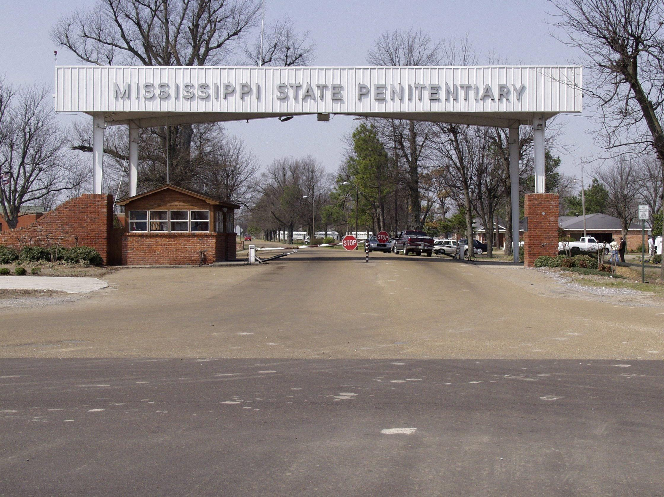 Image: Undated photo shows the entrance of the Mississippi State Penitentiary