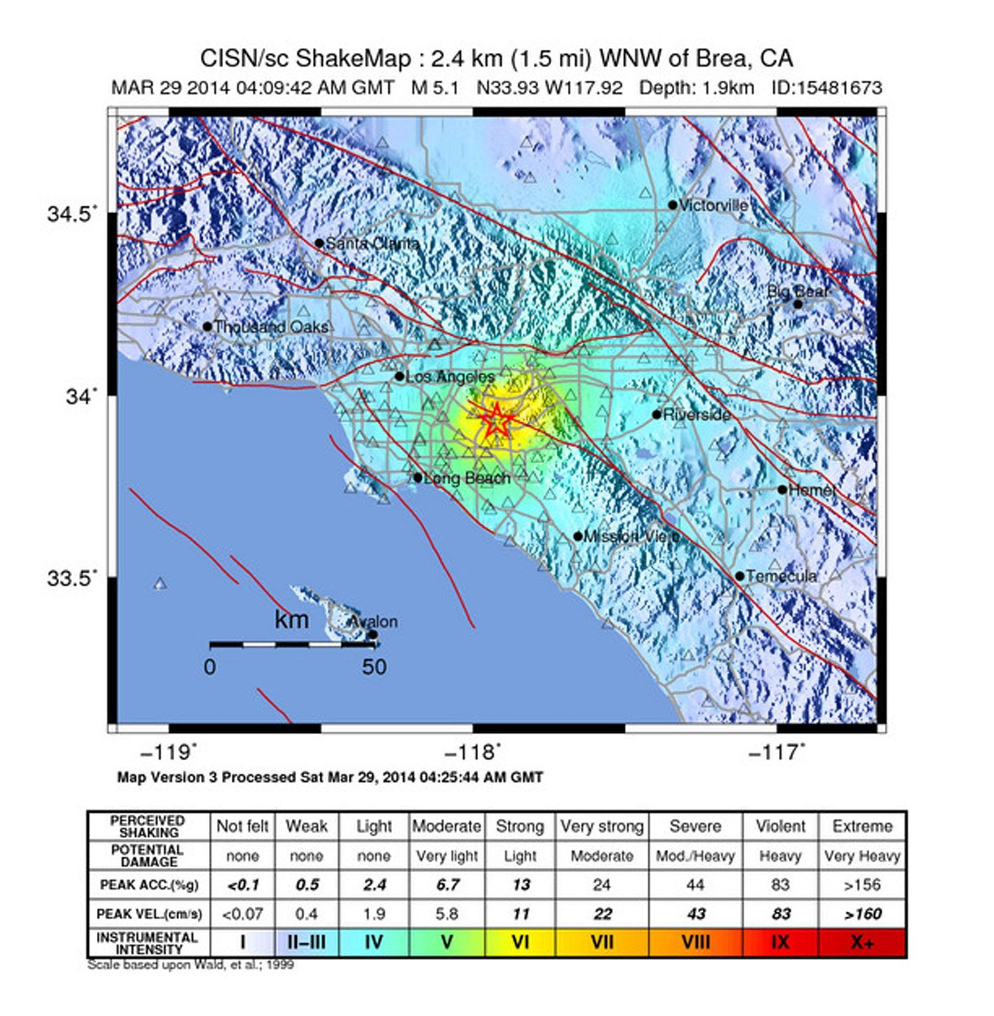Image: 5.1 earthquake in Los Angeles area