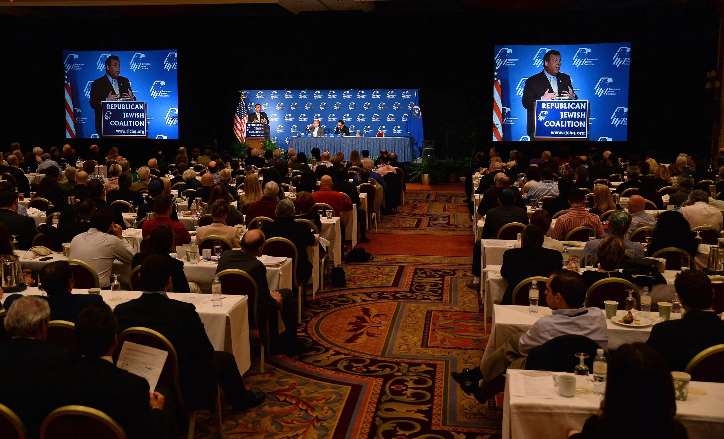 Image: NJ Gov. Chris Christie Speaks At Republican Jewish Coalition Leadership Meeting In Vegas