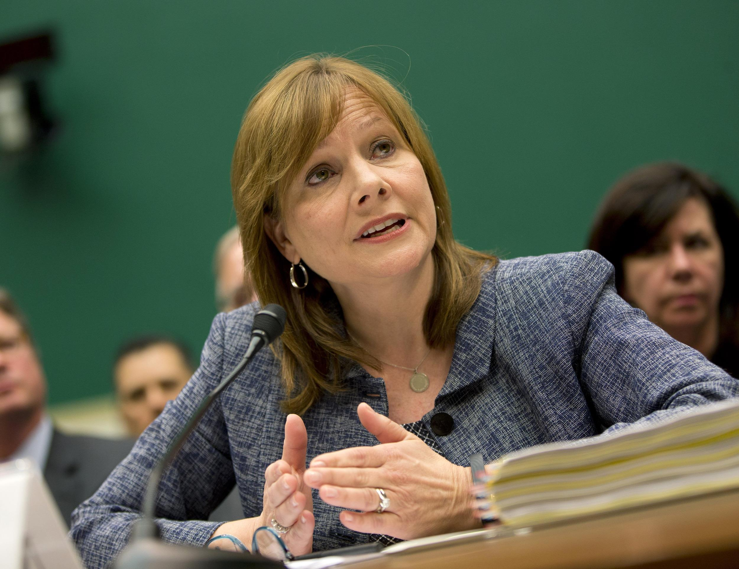 GM CEO Mary Barra answers questions in Congress on Tuesday about the recall of millions of her company's cars.