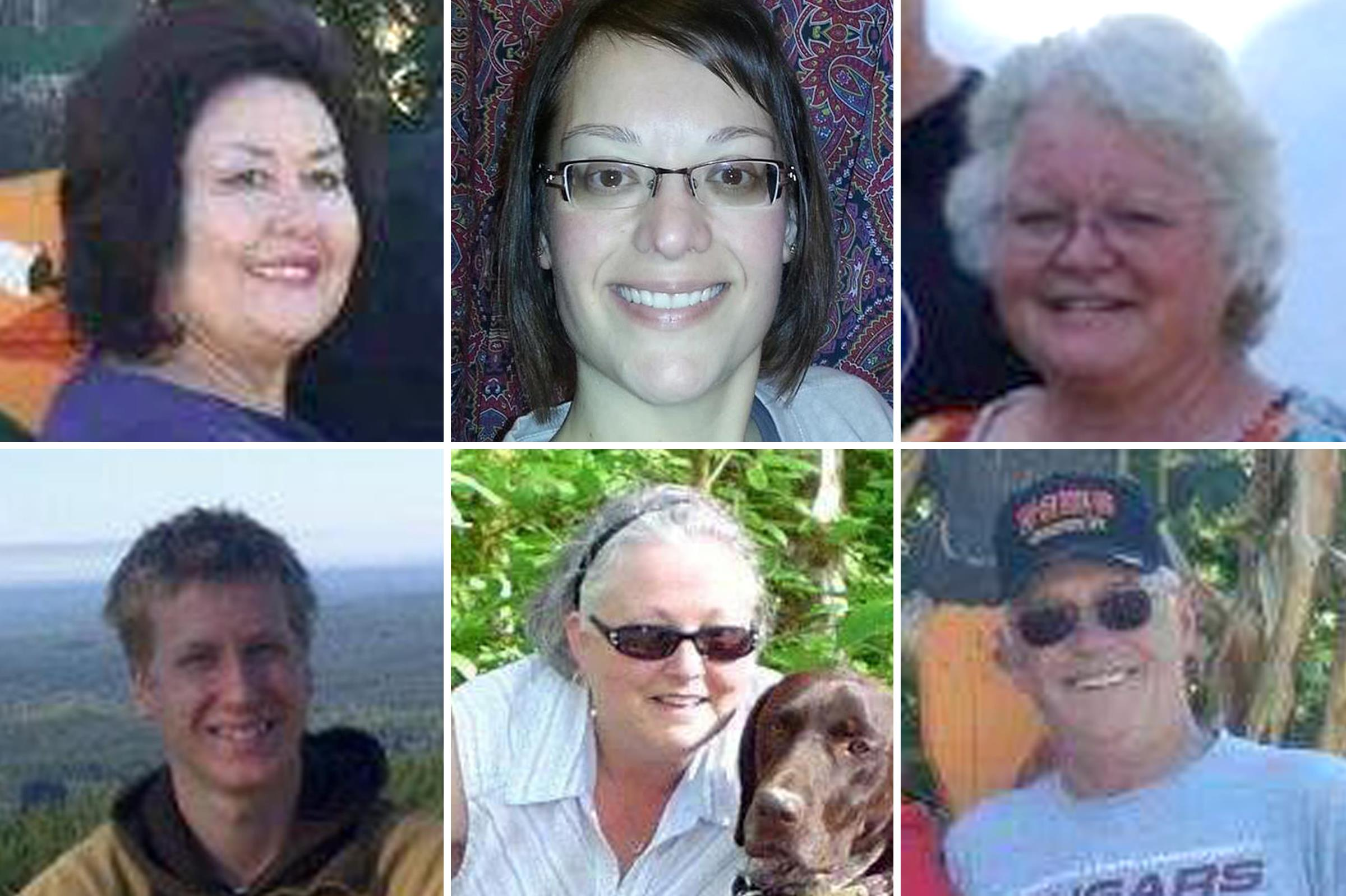 Image: Top row, from left: JuDee Vandenburg, Amanda Lennick, Julie Farnes; Bottom: Alan Bejvl, Brandy Ward, Lou Vandenburg.
