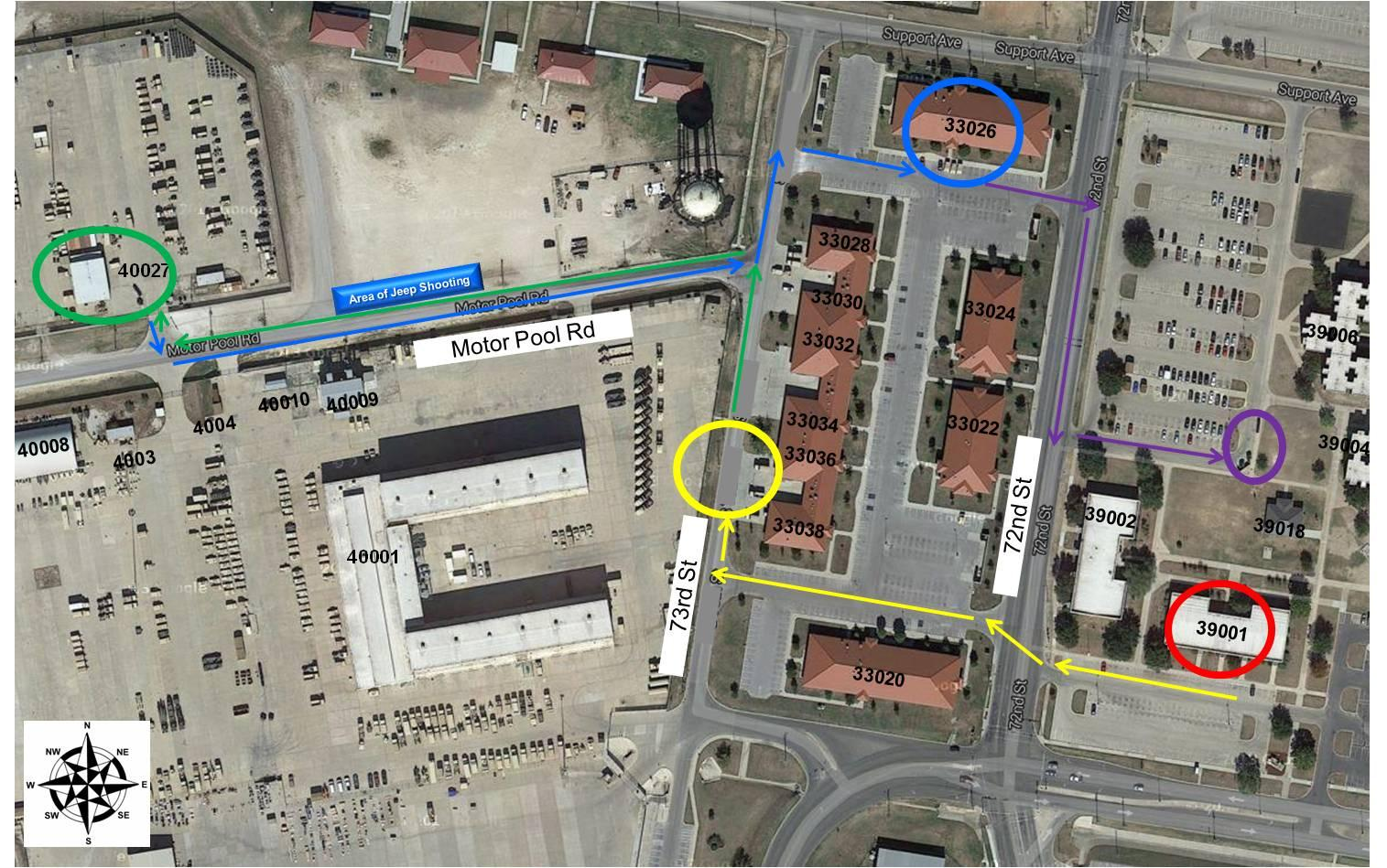 IMAGE: Map of Fort Hood shooting reconstruction