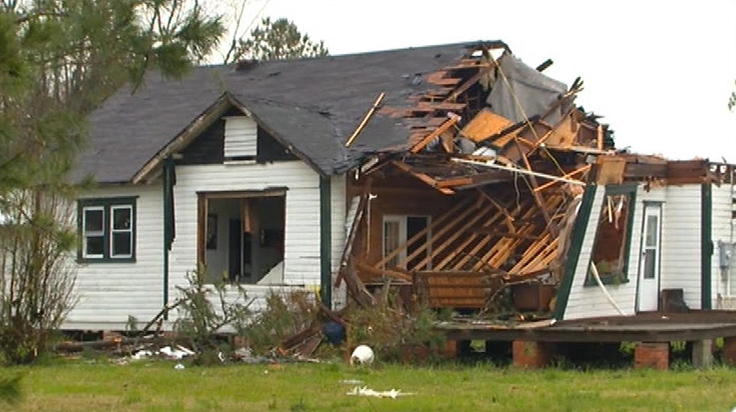 Image: A house in Beaufort County, N.C., was destroyed by a possible tornado.