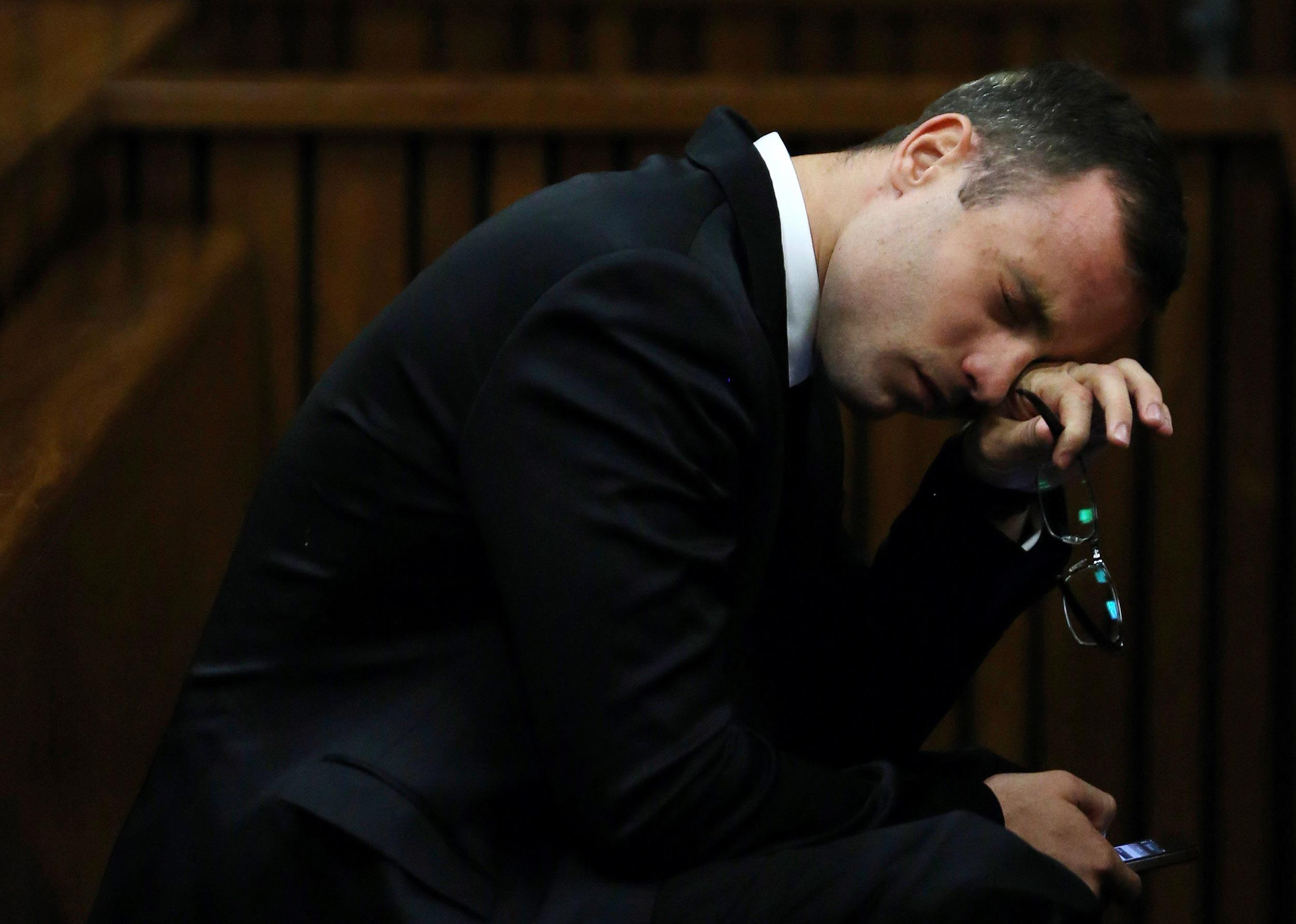 Image: Oscar Pistorius attends his trial at the high court in Pretoria