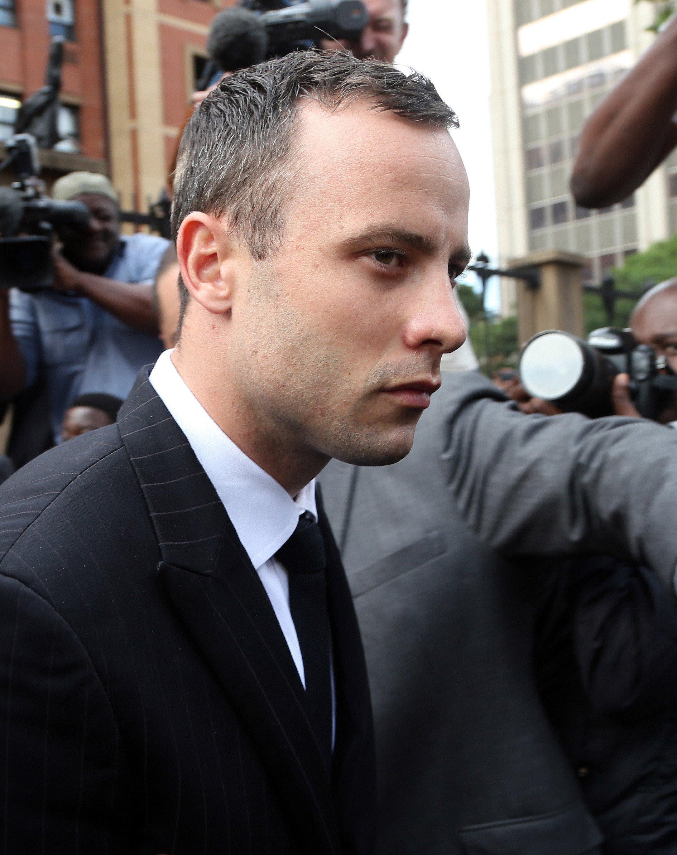 Image: Oscar Pistorius on Wednesday