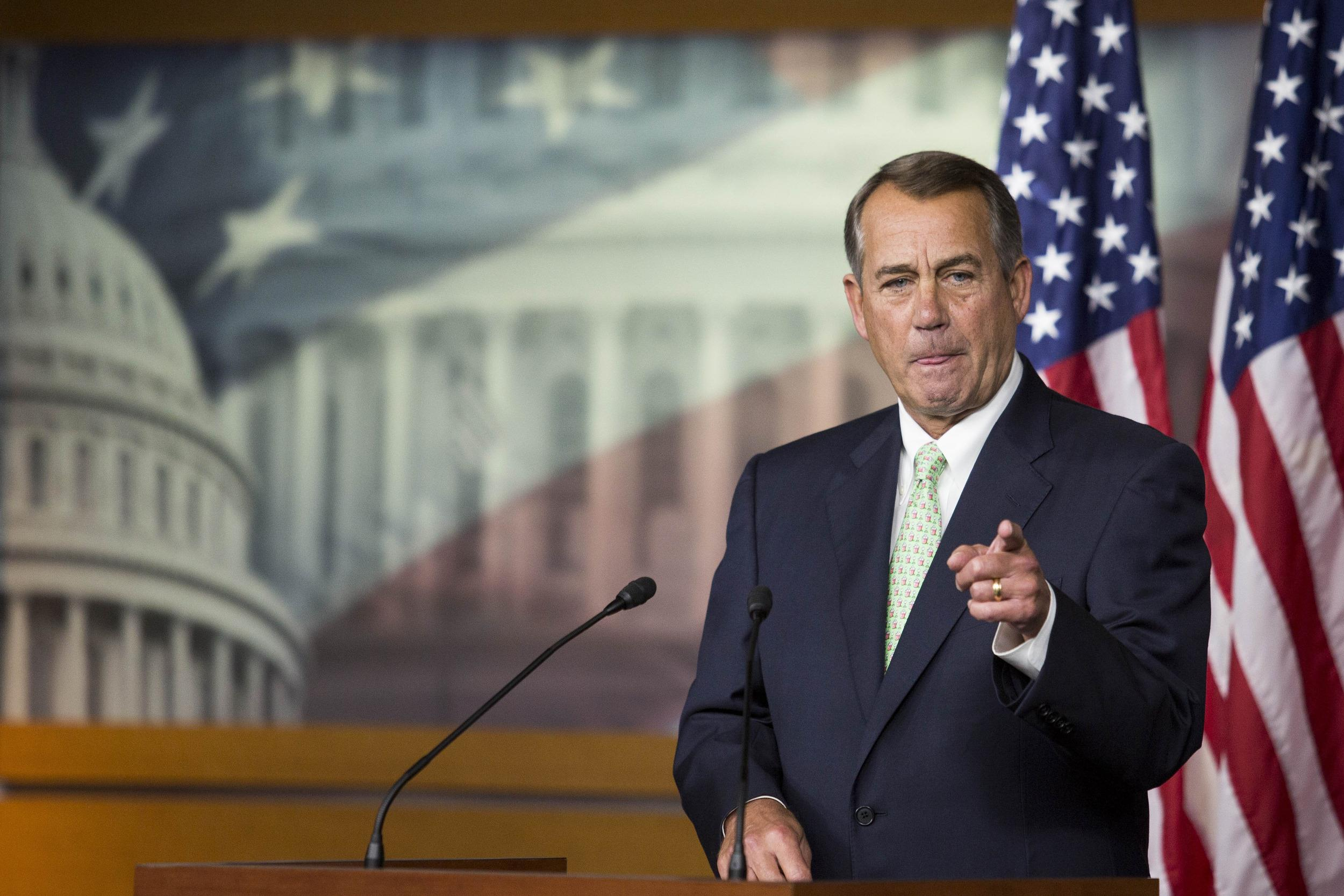 Image: Speaker Boehner Holds His Weekly News Conference