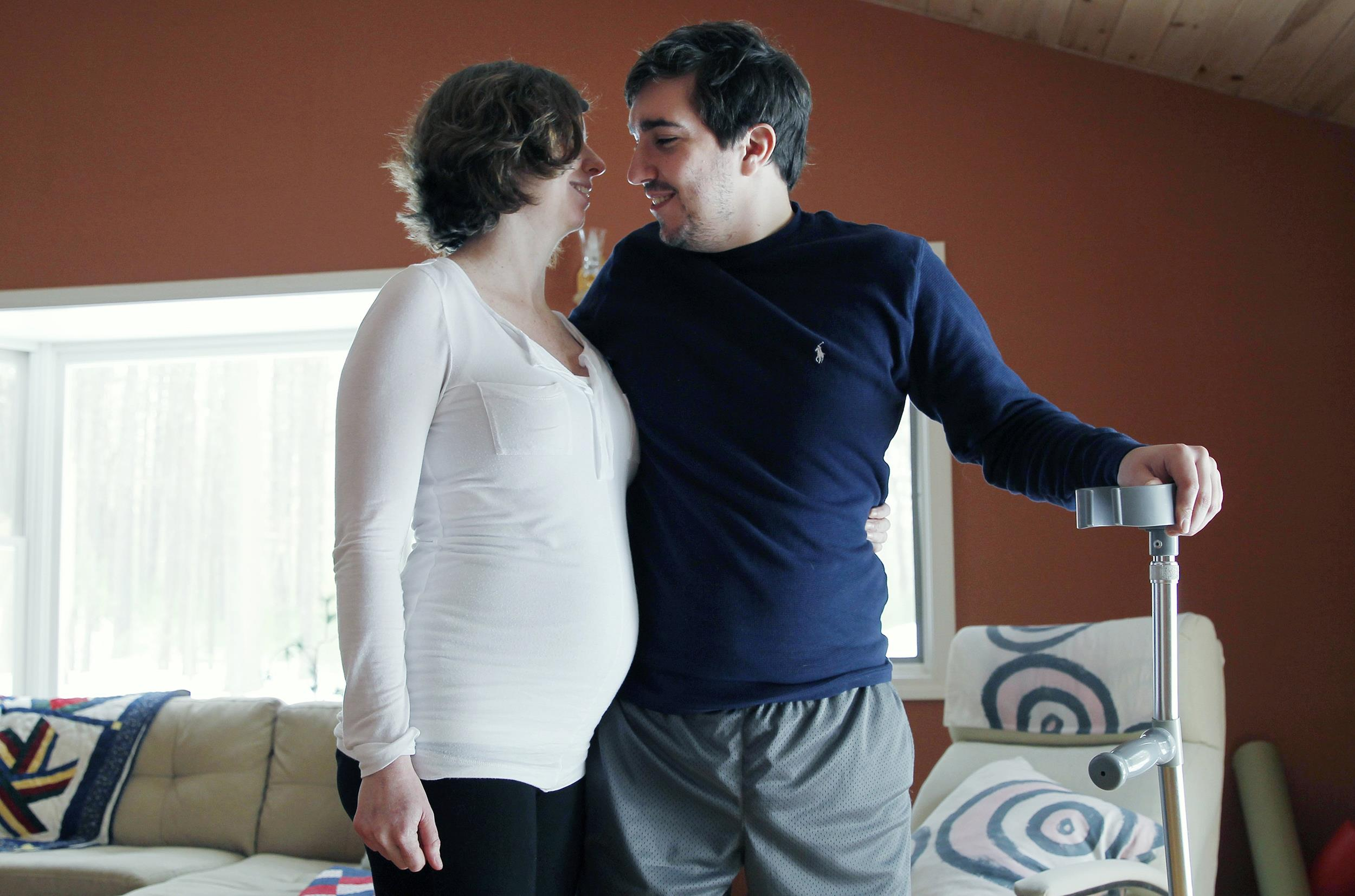 Image: Jeff Bauman, who lost both legs in the Boston Marathon bombings with his expectant then-fiance Erin Hurley
