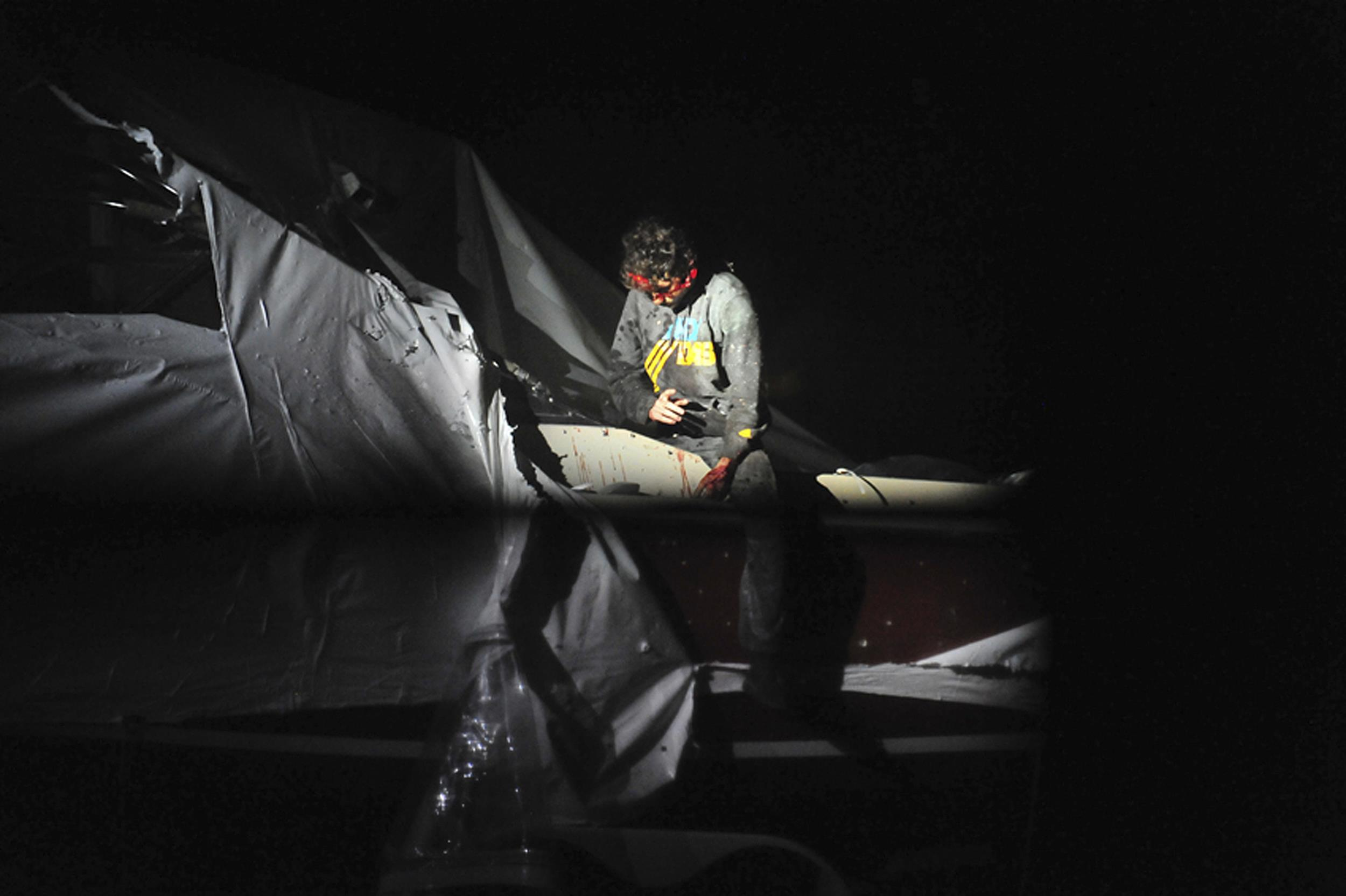 Image: Dzhokhar Tsarnaev is apprehended after hiding in a boat