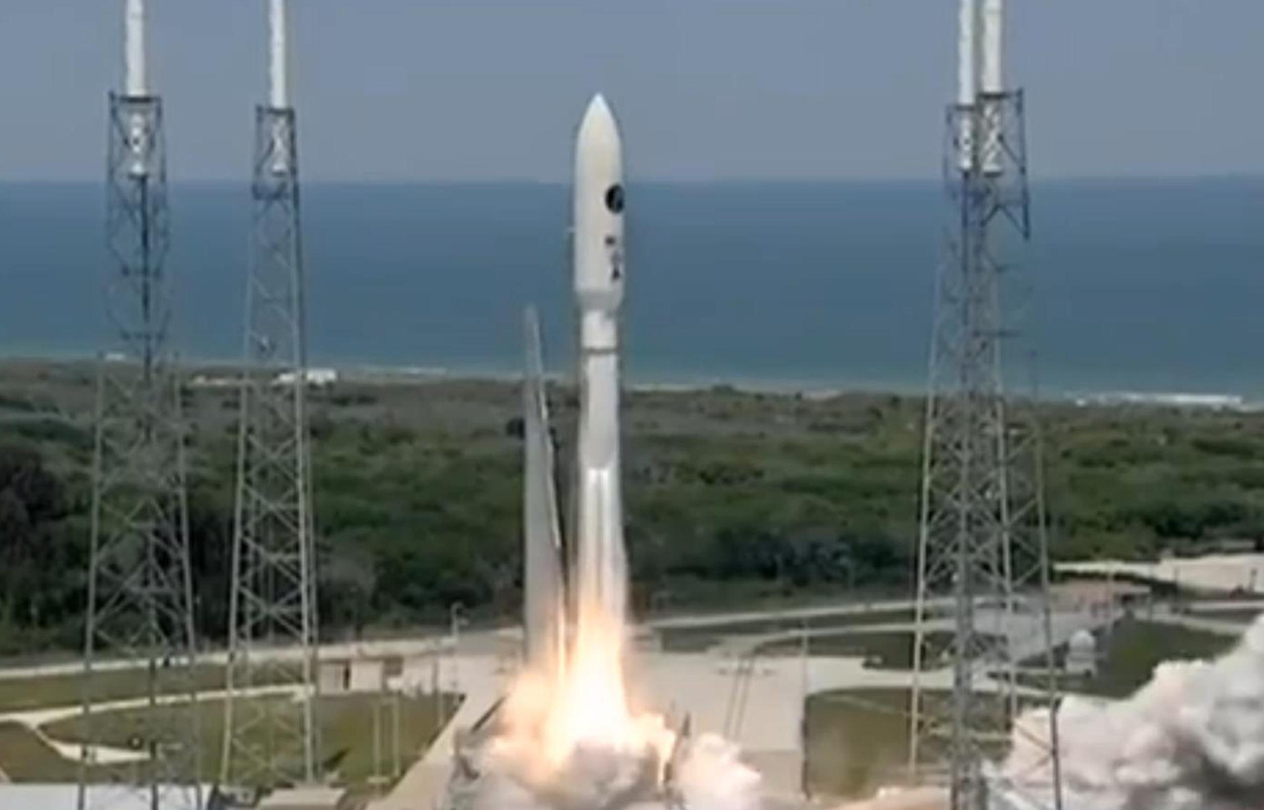 Image: An unmanned blasted off Thursday from Cape Canaveral with a satellite for the National Reconnaissance Office