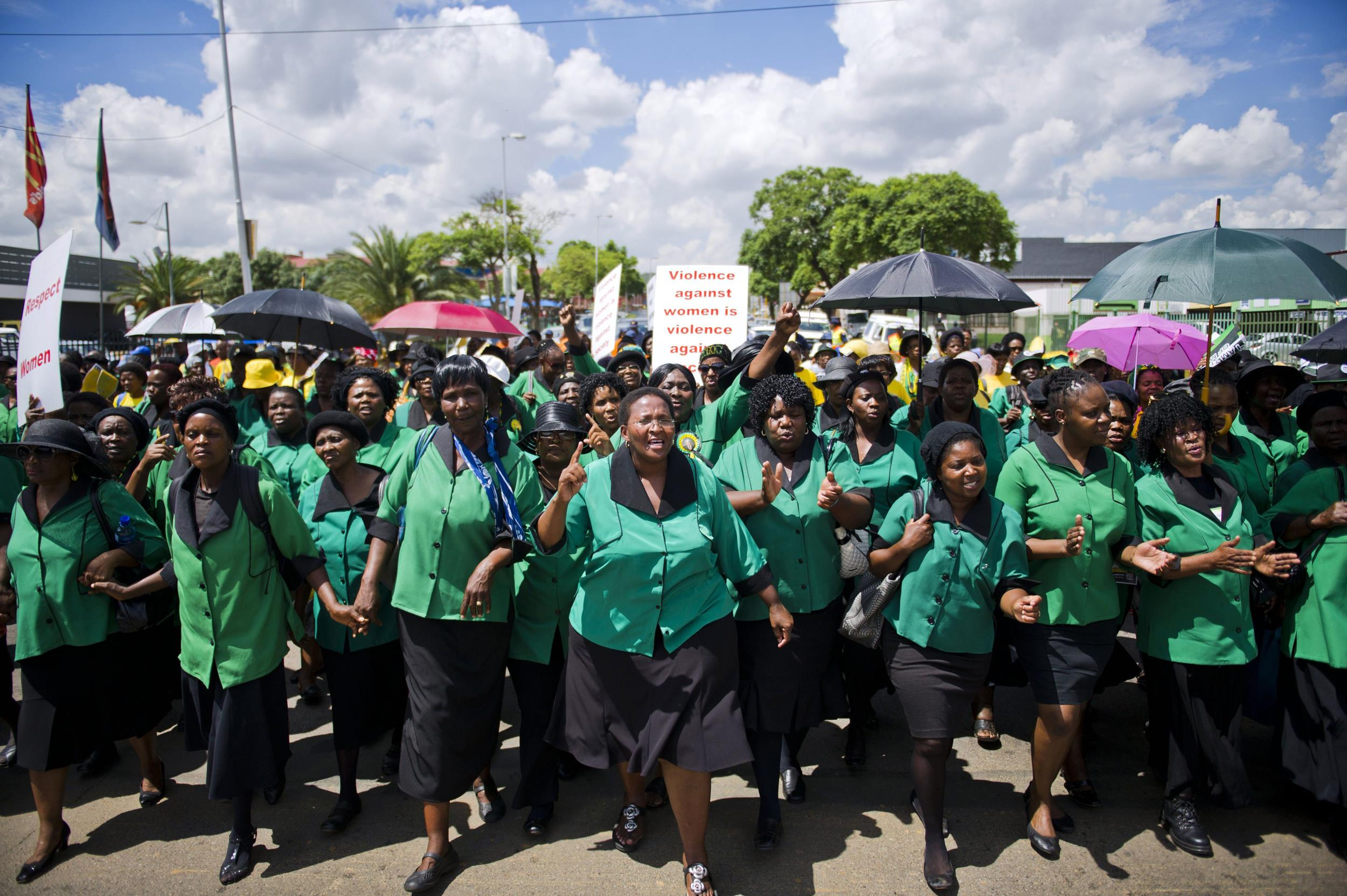 Image: The Gauteng ANC Women's League march