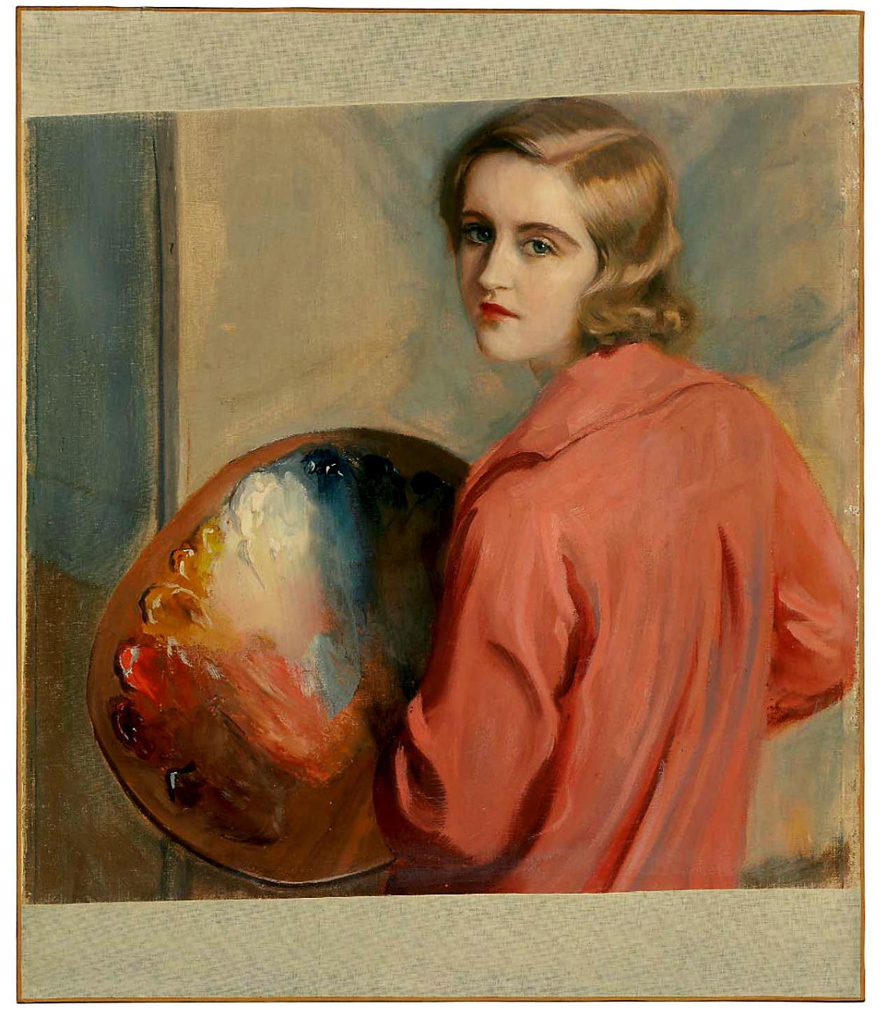 A self-portrait by Huguette Clark.