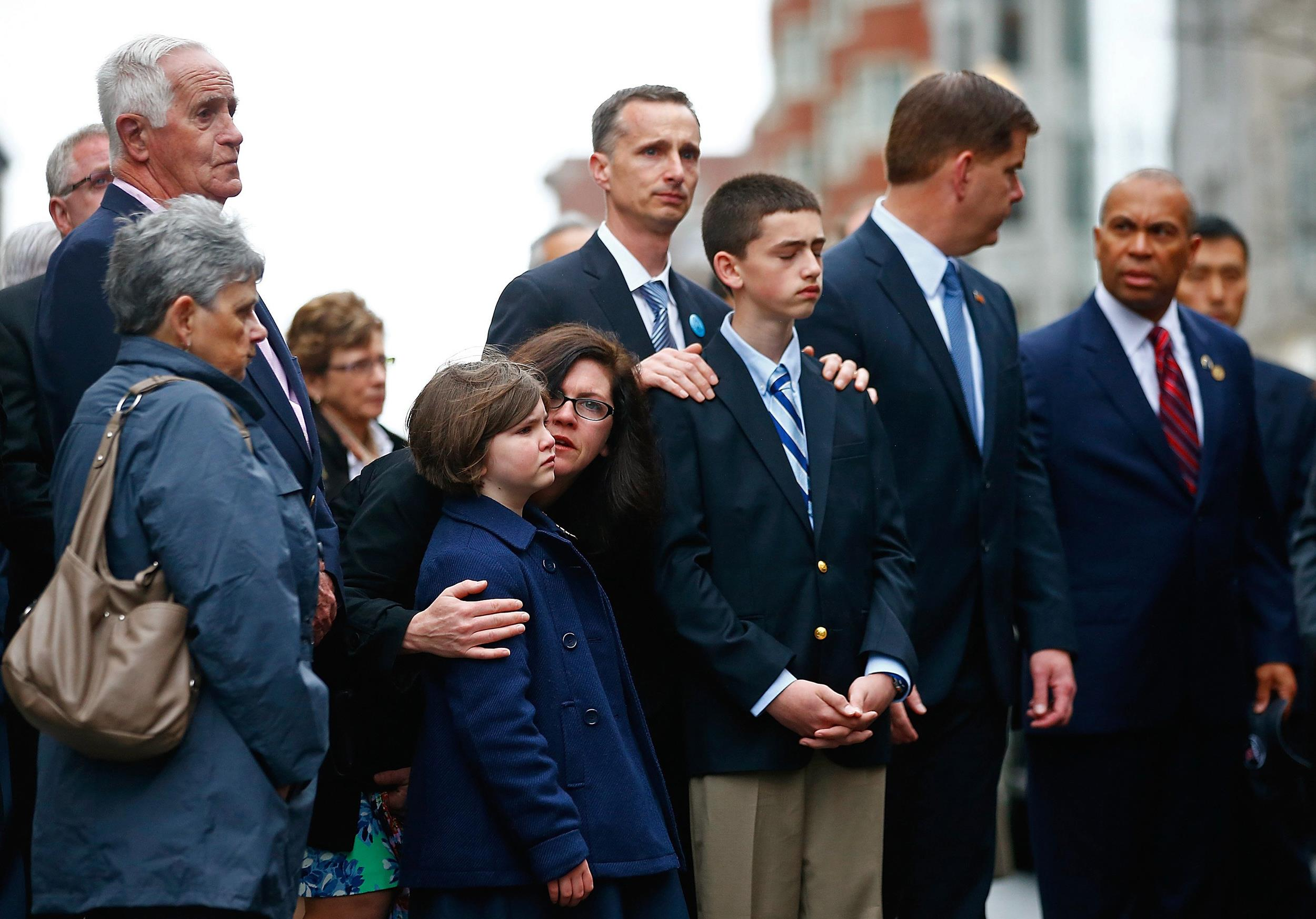 Image: Boston Commemorates One-Year Anniversary Of Marathon Terror Bombings