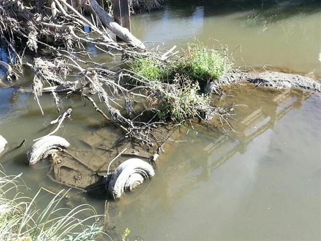 IMAGE: Submerged car found in South Dakota creek