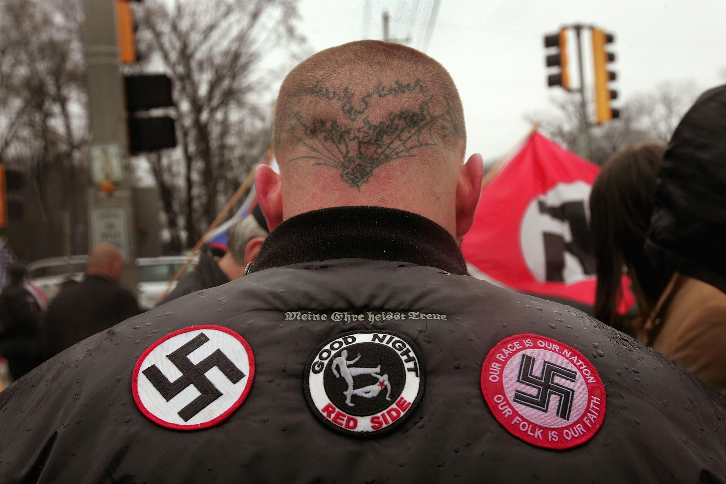 Image: A Neo-Nazi protester