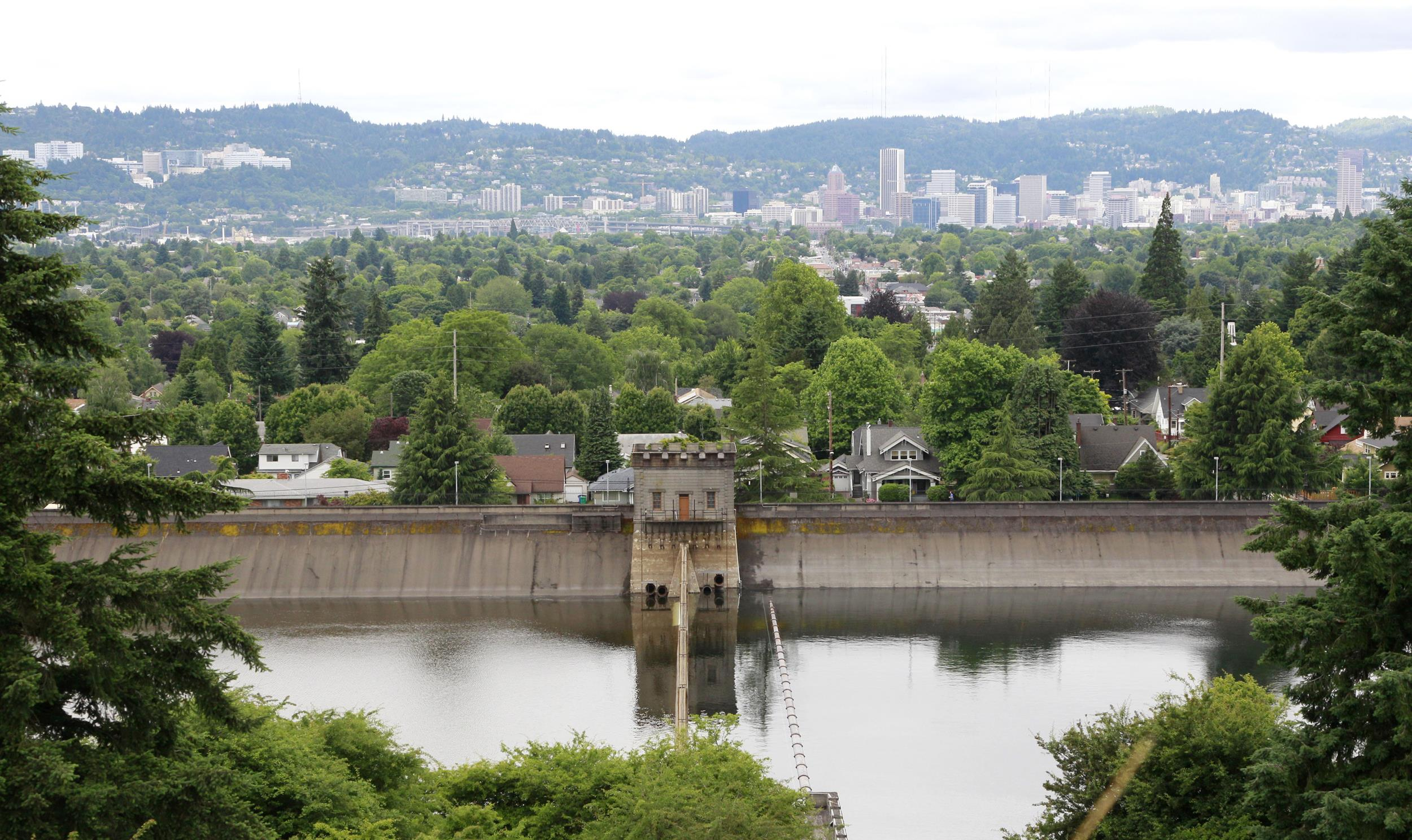 Reservoir No. 6 in Mount Tabor Park in Portland, Ore.