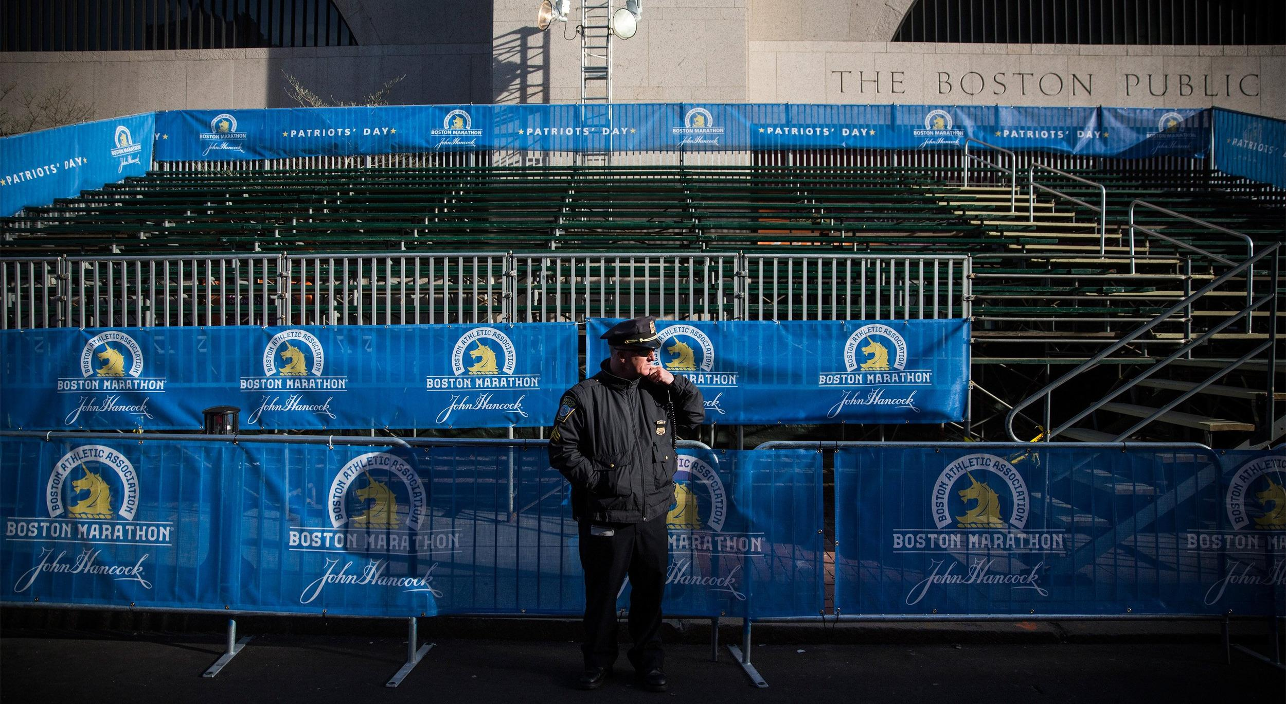 Image: Boston Prepares For First Running Of Marathon After 2013 Terror Bombings